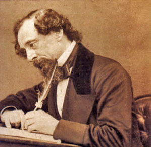 Portrait of Charles Dickens, photographed by George Herbert Watkins, 1858. (Image from Wikimedia Commons.)