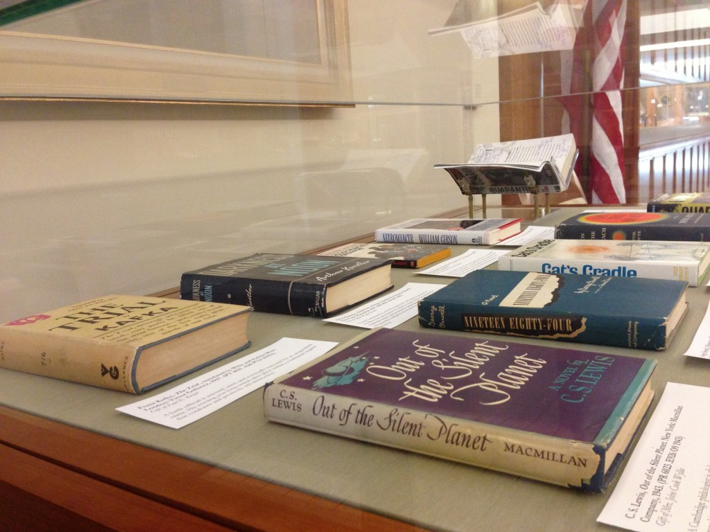 Some of the titles on view.