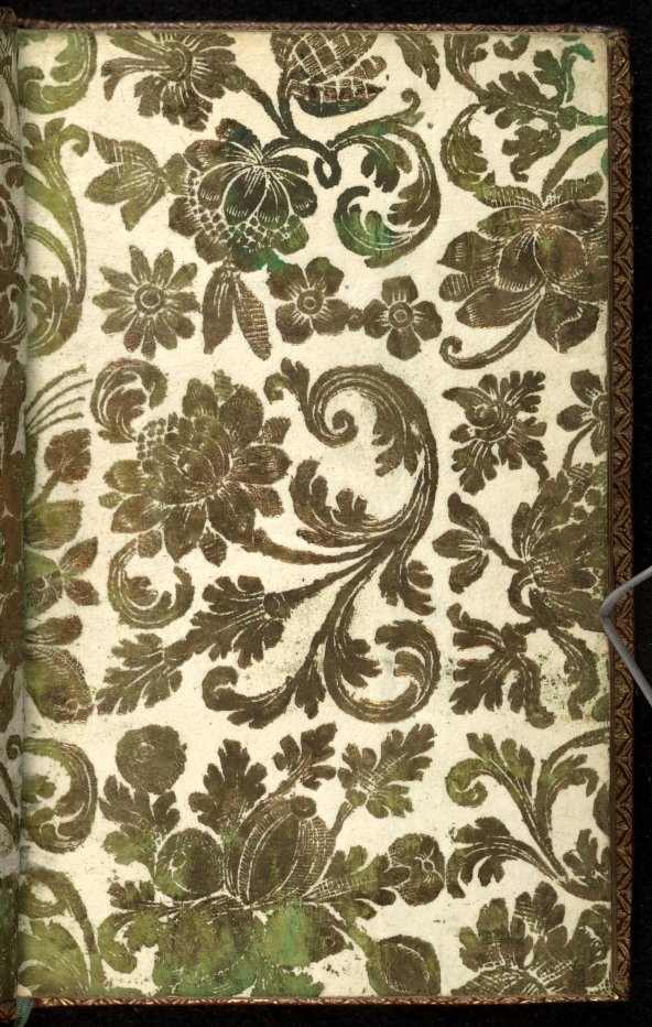 Front Free Endpaper page 1 from Liure tres bon plaisant et salutaire de linstitution de la femme chrestienne, tant en son enfance, que mariage & viduite. : Aussi de loffice du mary, · Vives, Juan Luis, 1492-1540 · 1543