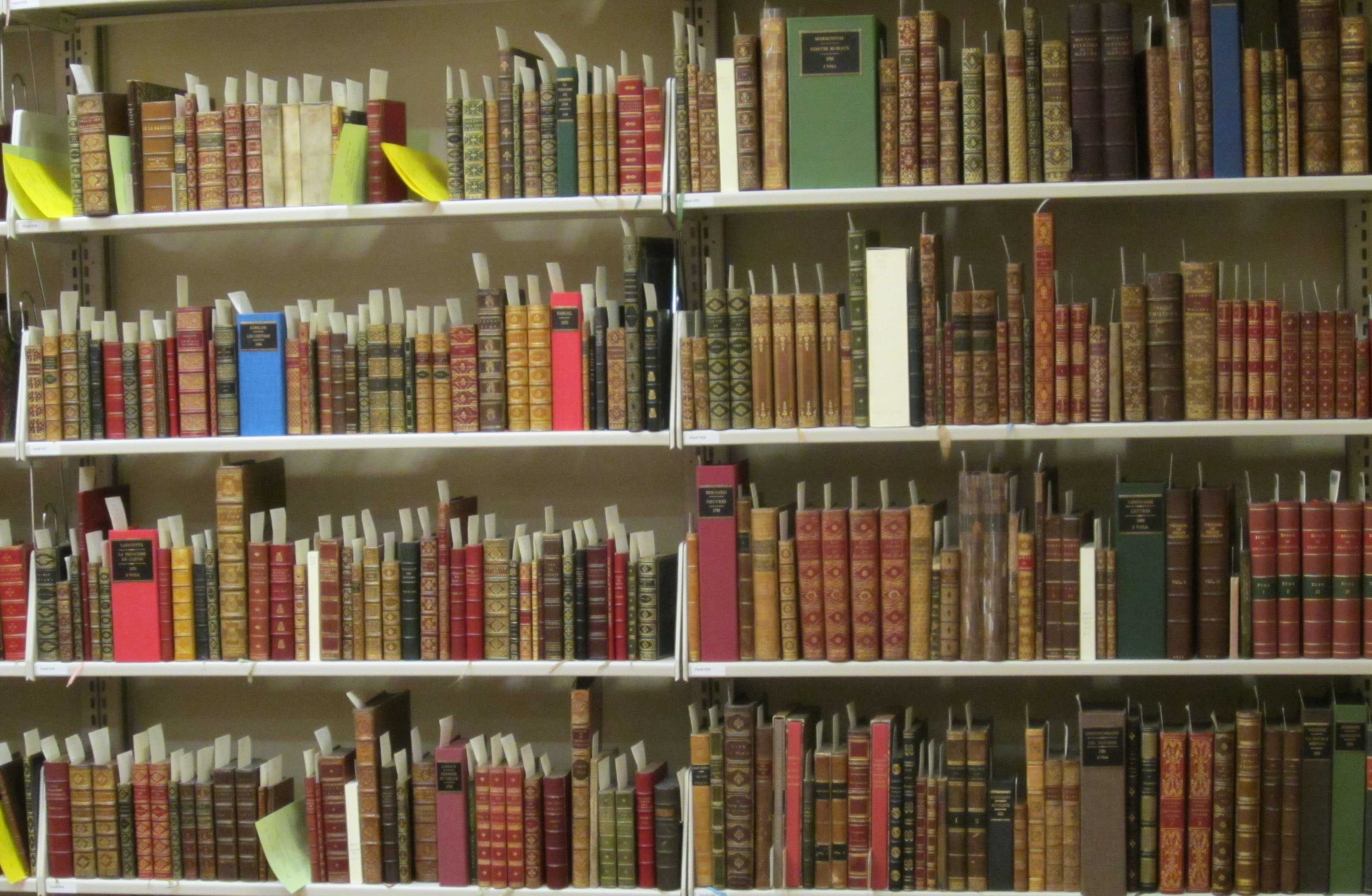 A section of the Gordon Collection of French Books stacks. (Photograph by Petrina Jackson)