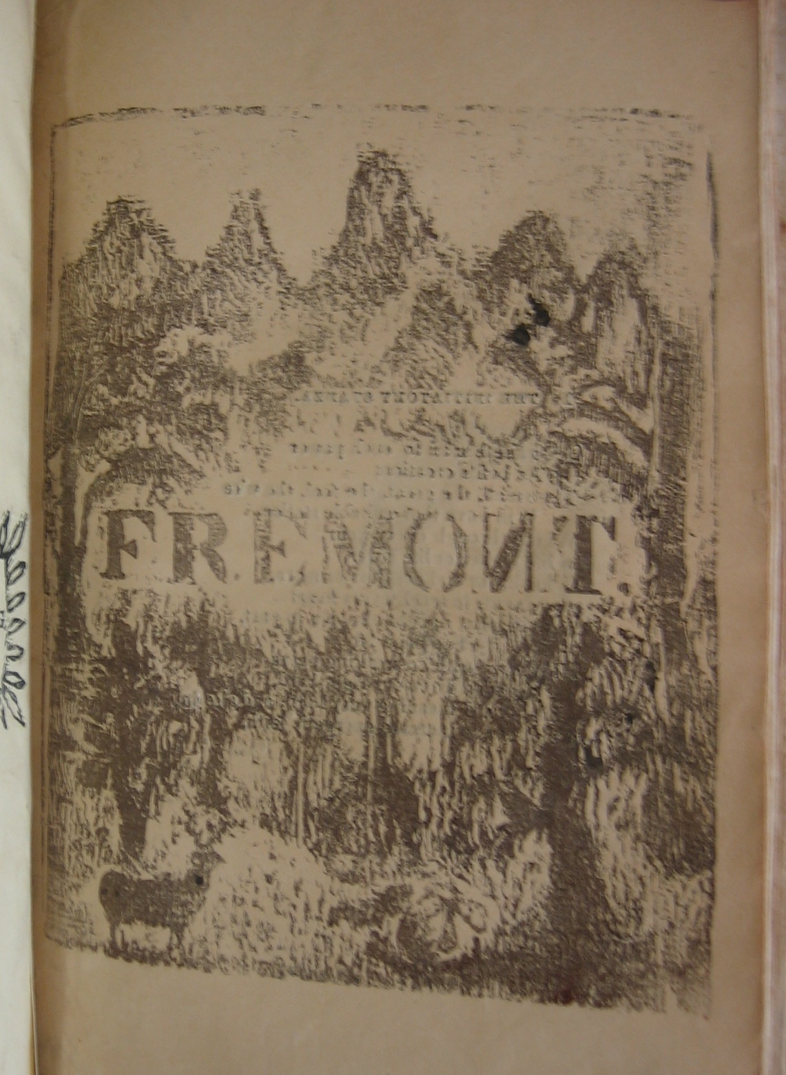 Front cover of Cook's Fremont: a poem (Salem, Mass., 1856) bound with The Eucleia (Salem, Mass., ca. 1865) (PS1378 .C7 1865; Robert & Virginia Tunstall Trust Fund)