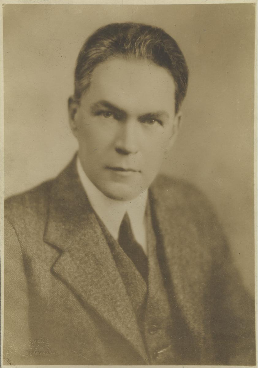 Portrait of James Branch Cabell, 1930. (RG-30/1/10.11) University of Virginia Visual History Collection. Online.