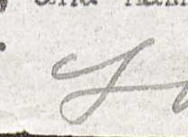 "Jack London's signature, highlighting the letter ""L"" in his last name. Letter to Max Feckler from Jack London, October 26, 1914"