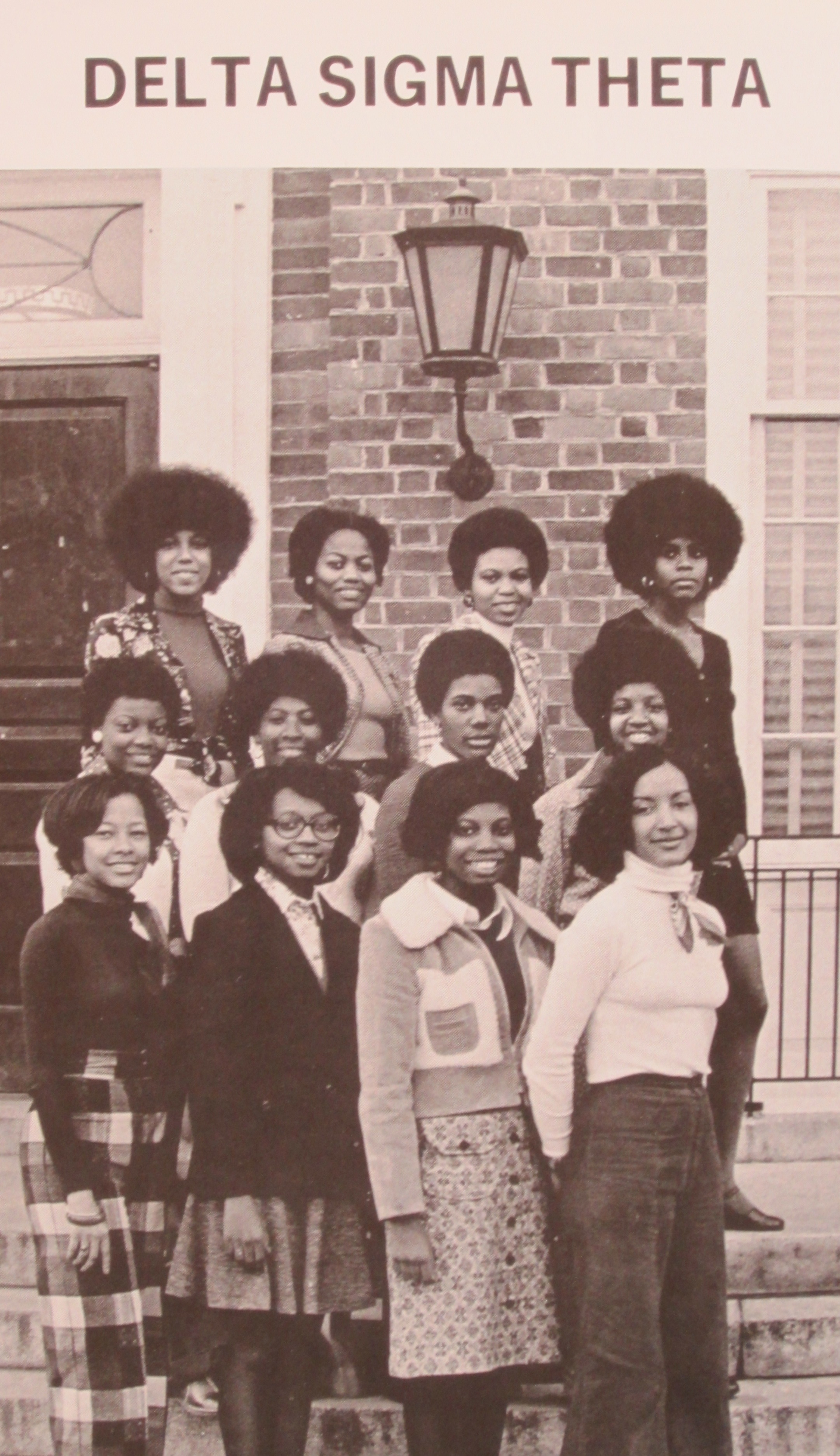 Photograph of U.Va.'s Deltas from the 1975 Corks and Curls (LD. Photograph by Petrina Jackson)