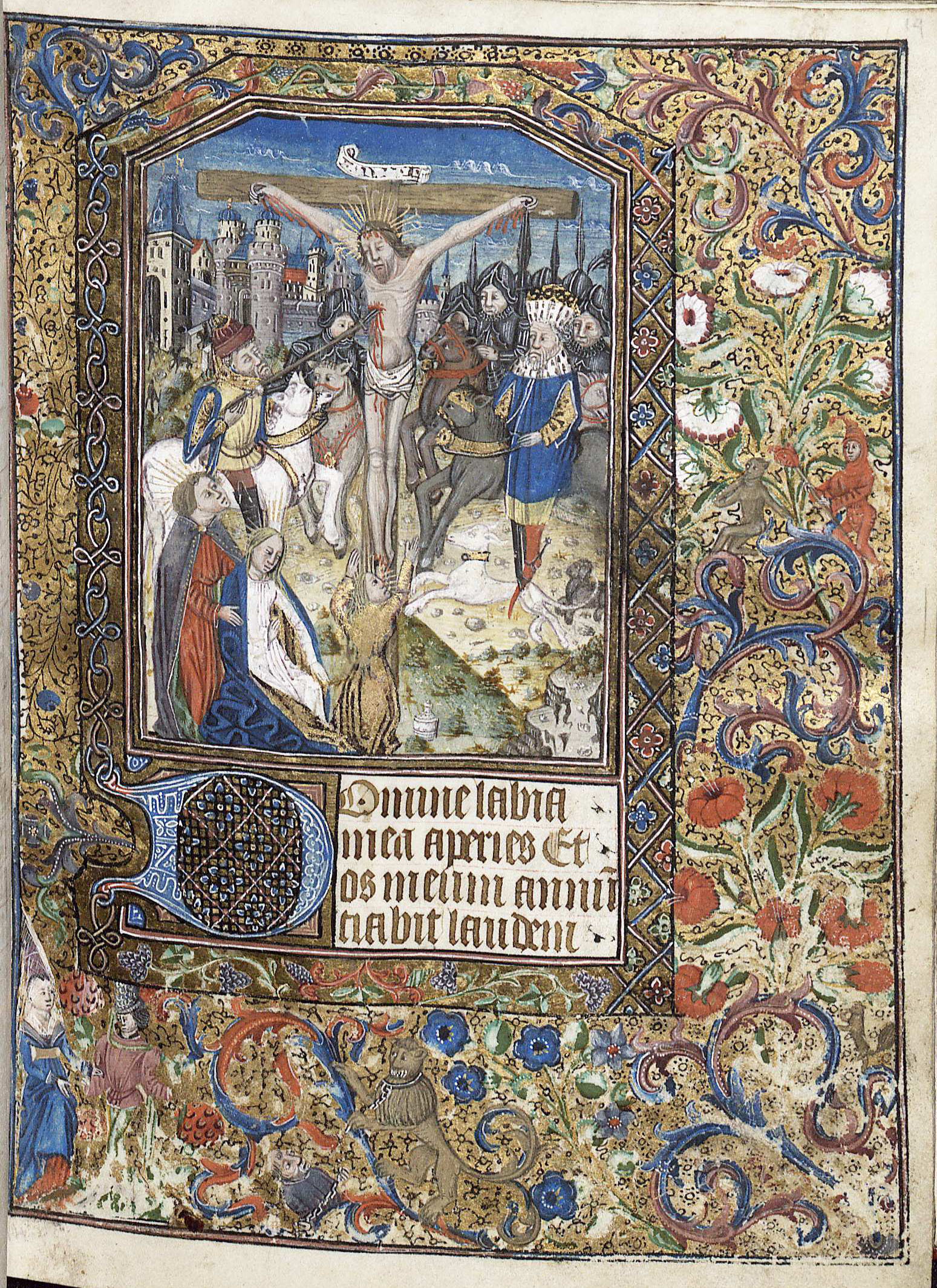Book of Hours, featuring the hour of the crucifixion (Medieval MSS P. Tracy W. McGregor Library of American History. Image by Petrina Jackson)