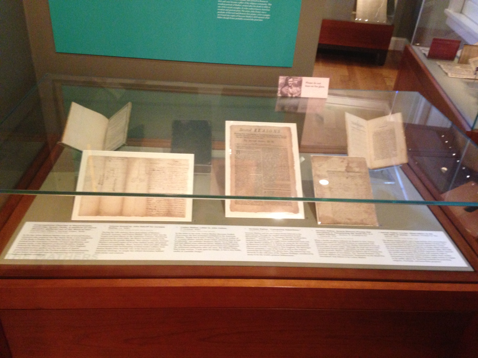 Puritan ministers Richard, Increase, and Cotton Mather profoundly influenced the history of colonial New England. Their stories are told here through books, broadsides, manuscripts--even a bookbinding from the family library--from the McGregor Library's superlative holdings.