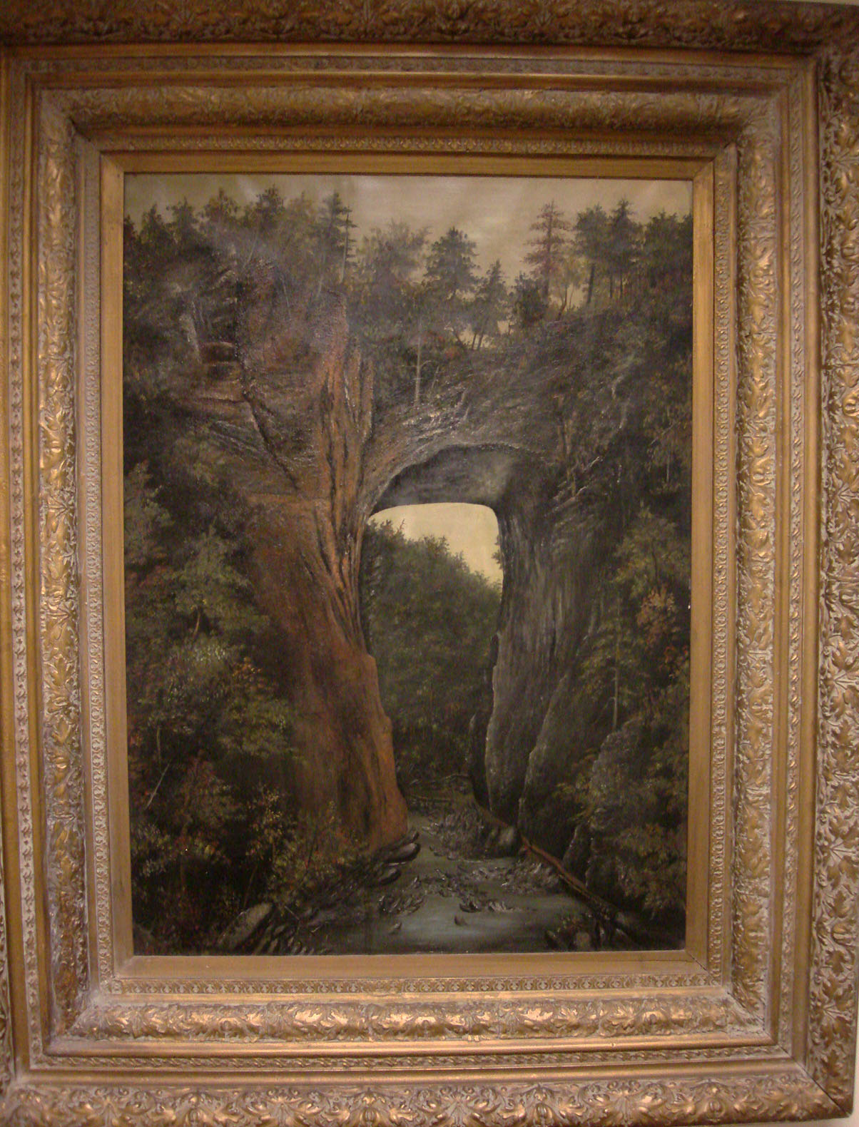 Fanny Lecky Paxton's painting of the Natural Bridge, Virginia, 1893. (MSS 8251. Photograph by Donna Stapley).