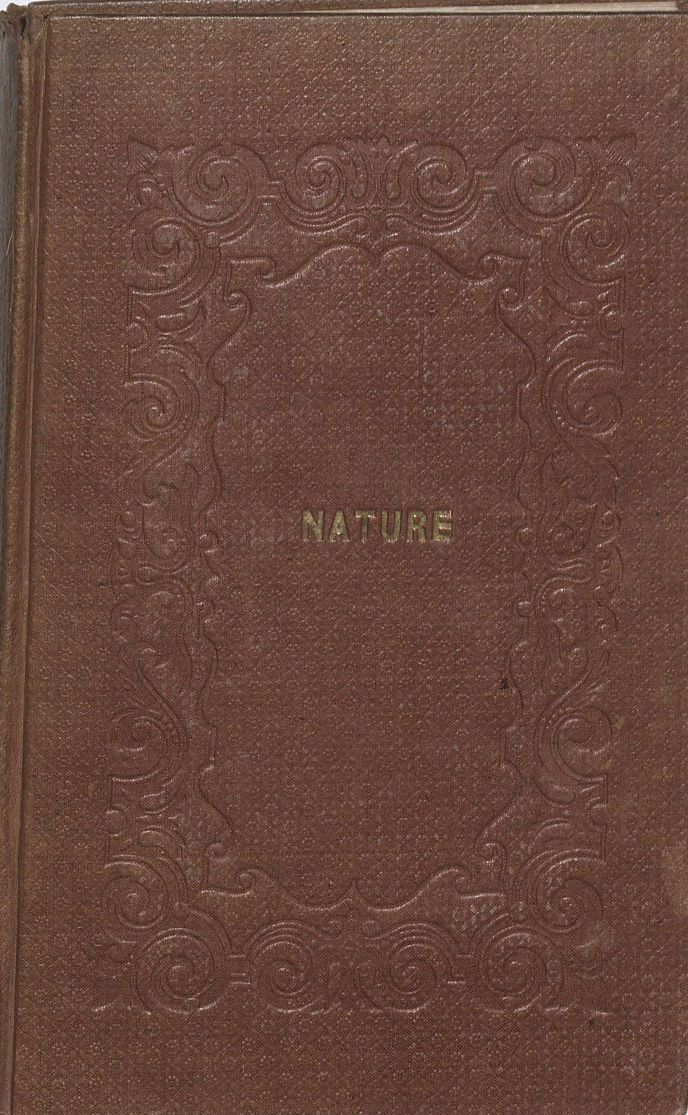 Emerson's book Nature, 1836. (PS1613 .A1 1836. Clifton Waller Barrett Library of American Literature. Image by Petrina Jackson)