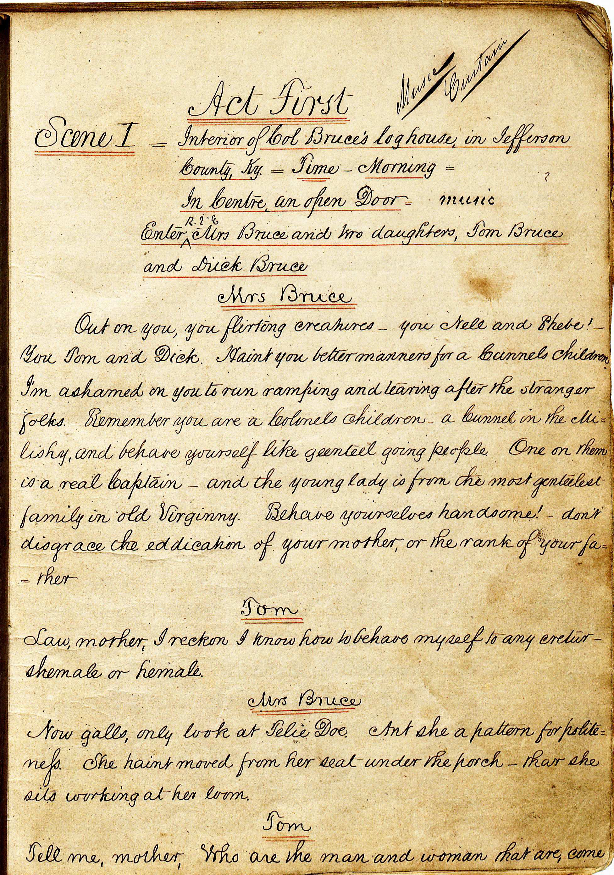 First page of Act 1, Scene 1 of