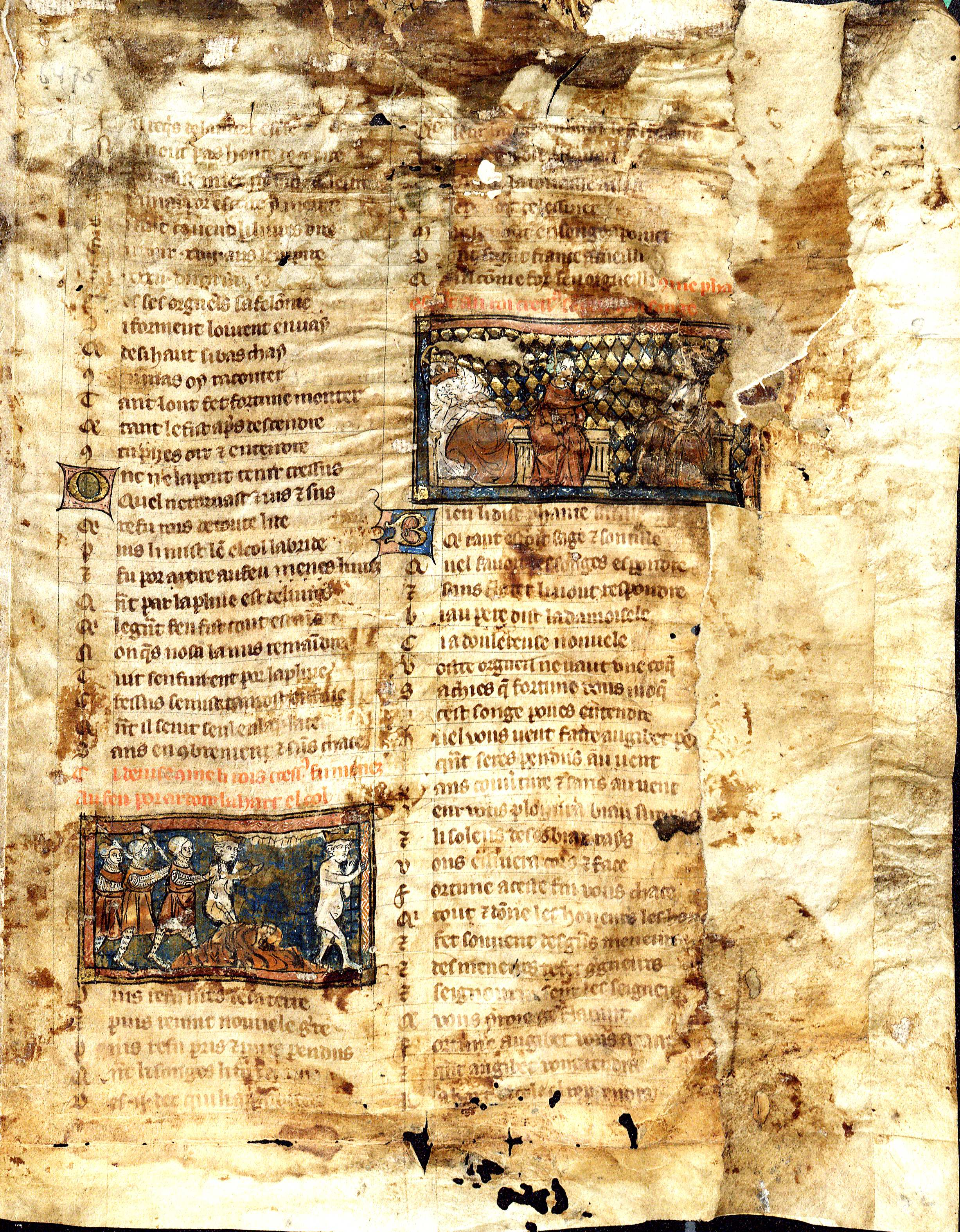 Page of the Roman de la Rose, 14th-Century (MSS 6765. Jeffress Collection. Image by Petrina Jackson)