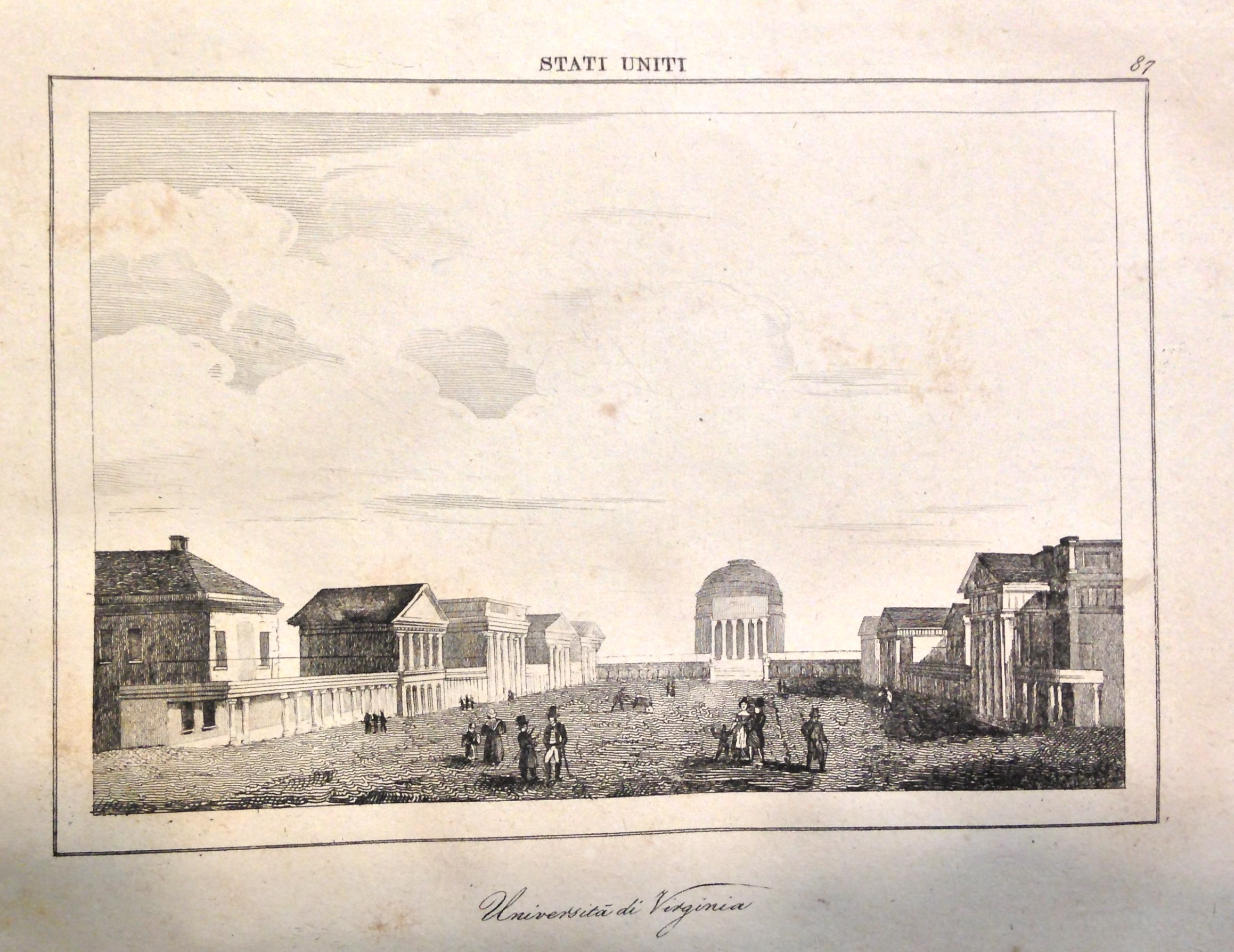 The Lawn, as it appeared in Roux de Rochelle, Stati Uniti d'America (Venice, 1839)   (E178 .R8216 1839).