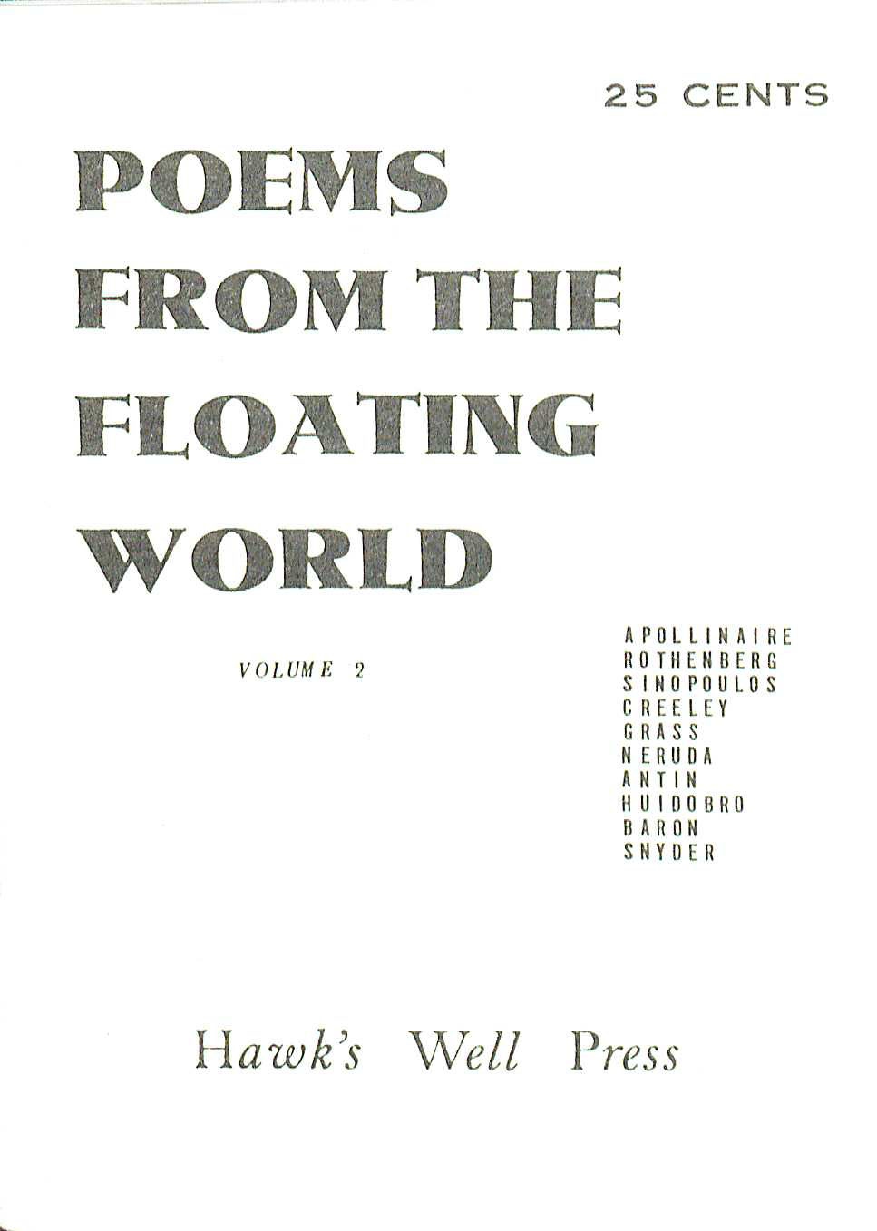 Poems from the Floating World. (PS580 .P63 v.3. Clifton Waller Barrett Library of American Literature. Image by Petrina Jackson)