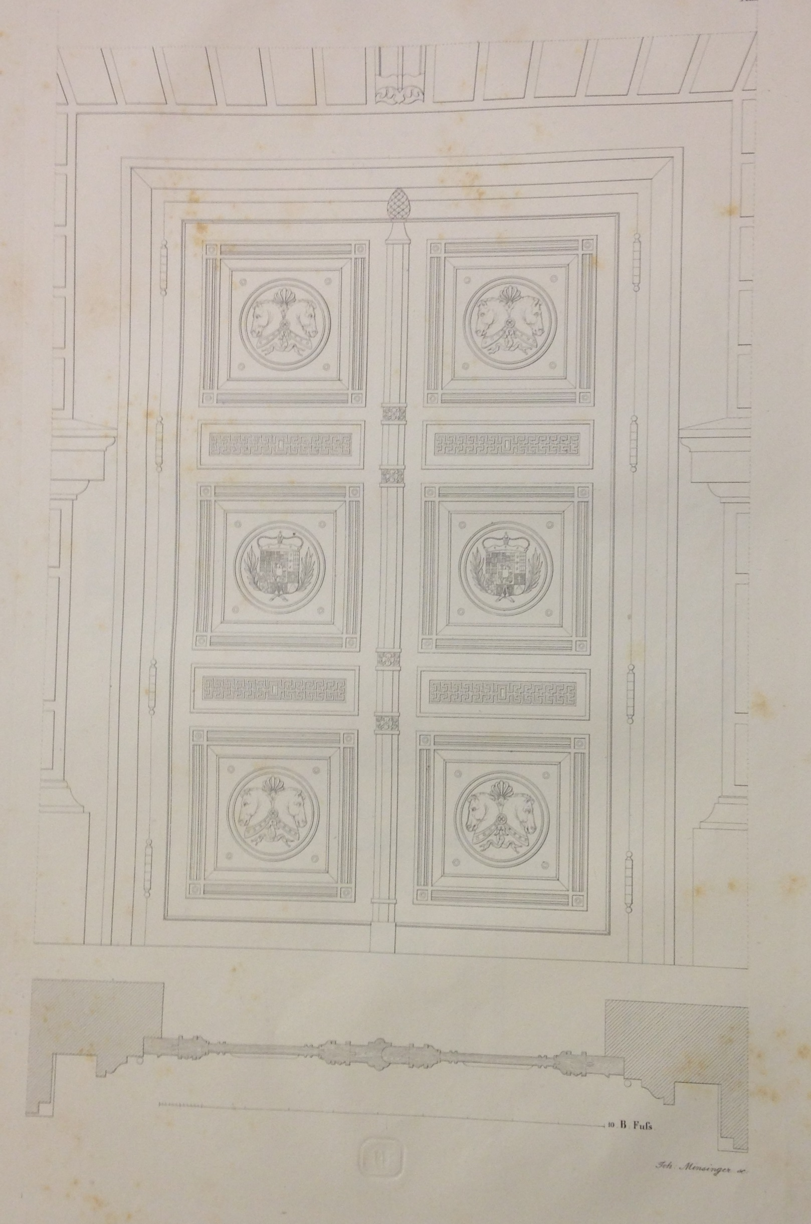 Architectural detail from Metivier, Grund-Plane ... Munich, 1836.  (NA8340 .M48 1836)