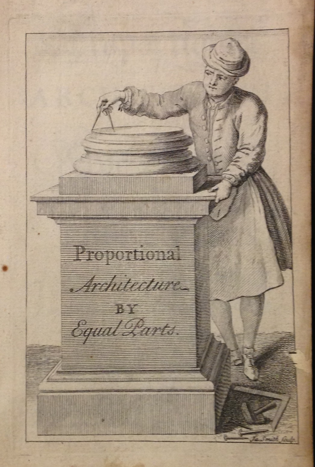 Frontispiece to William Robinson's Proportional Architecture; or, the Five Orders. London, 1736.  (NA2810 .R65 1736)