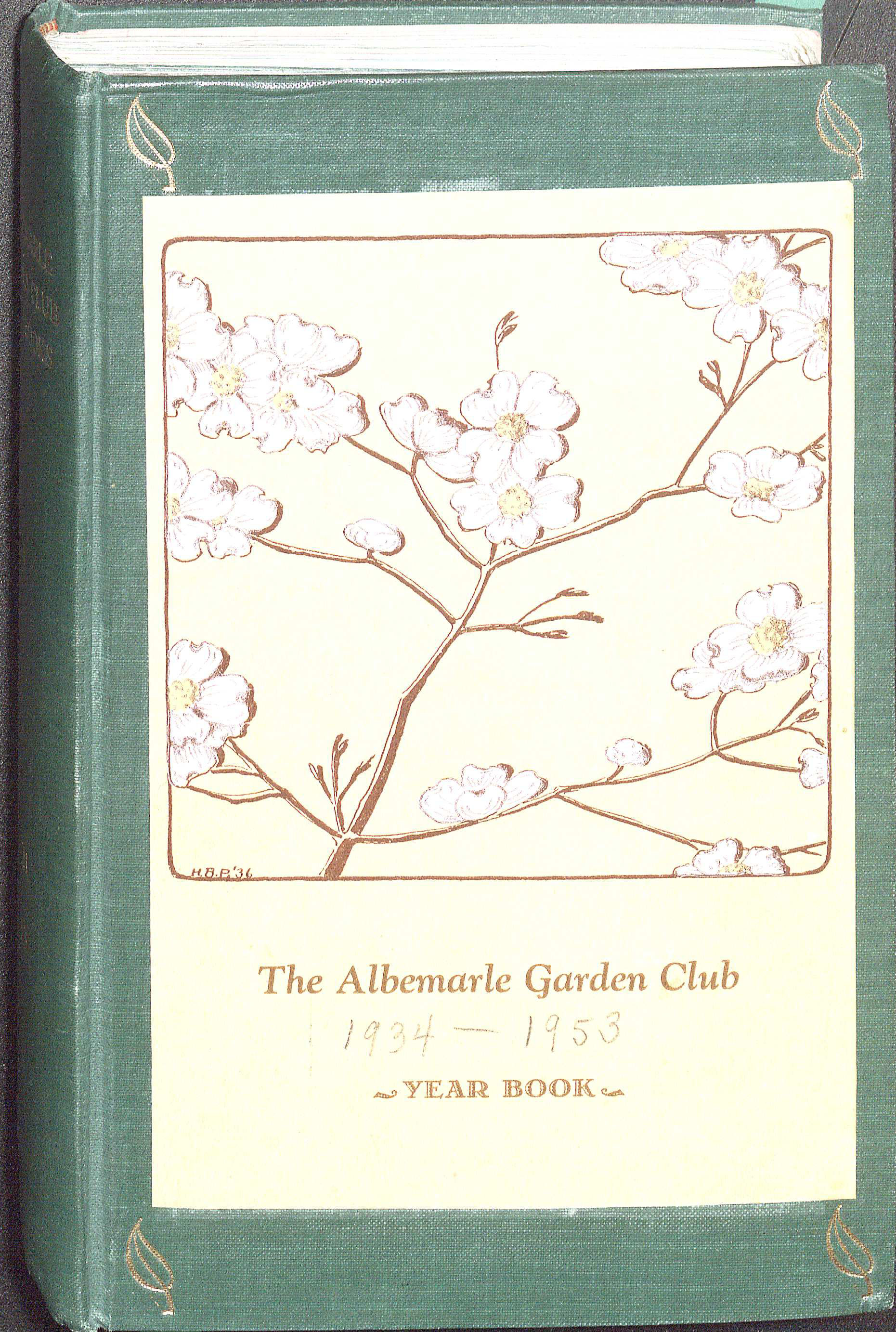 Albemarle Garden Club year book, 193.  The year book features the club's programs, members, and other activities. (MSS 5520. Image by Petrina Jackson)