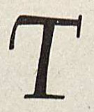 "The letter ""T"" written by Oldrich Menhart from Italic Handwriting by Tom Gourdie, 1955. (Z43 .G68 1955. Image by Petrina Jackson)"
