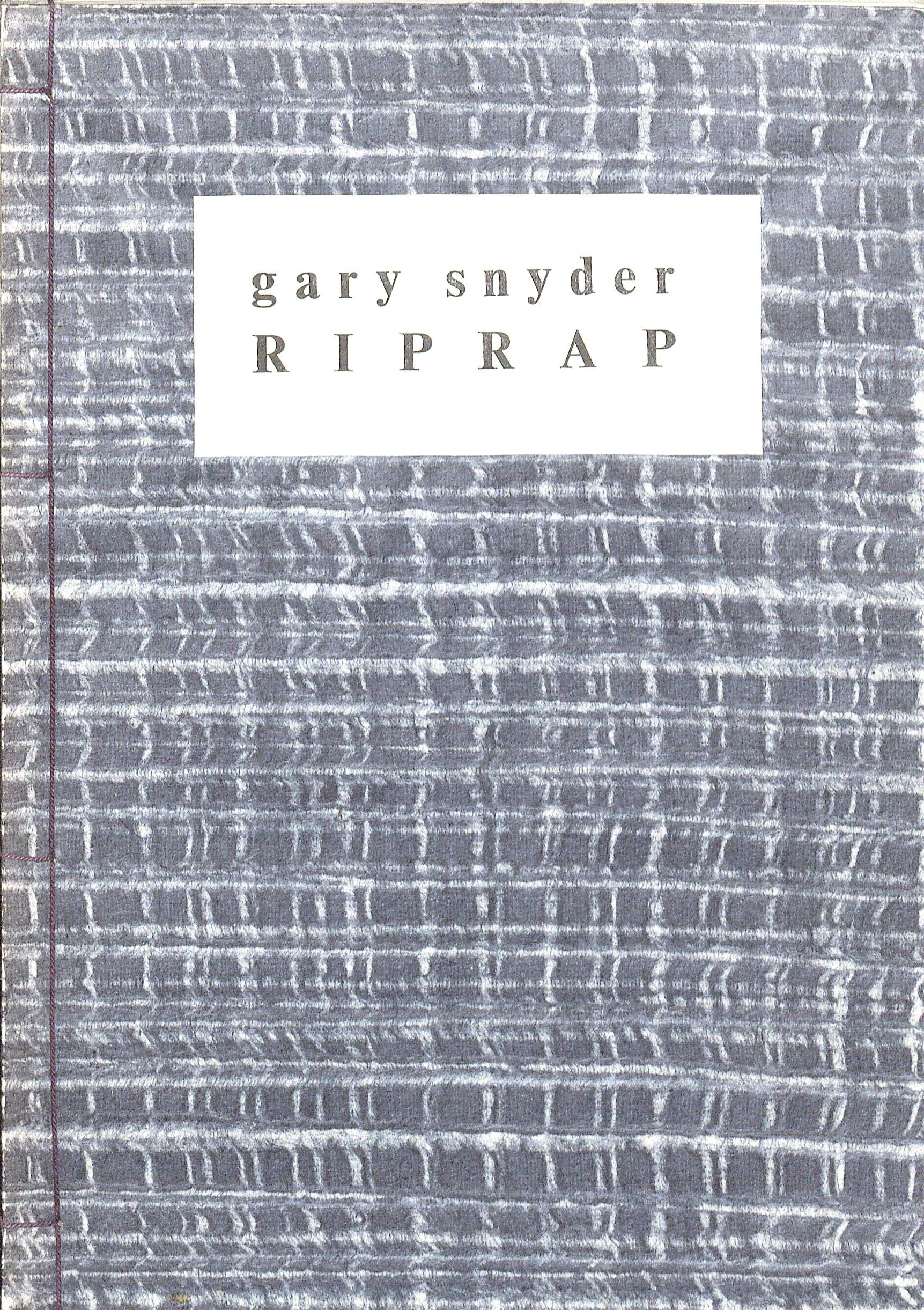 Cover of Gary Snyder's Riprap, 1959. (PS3569 .N88R49 1959. Image by Petrina Jackson).