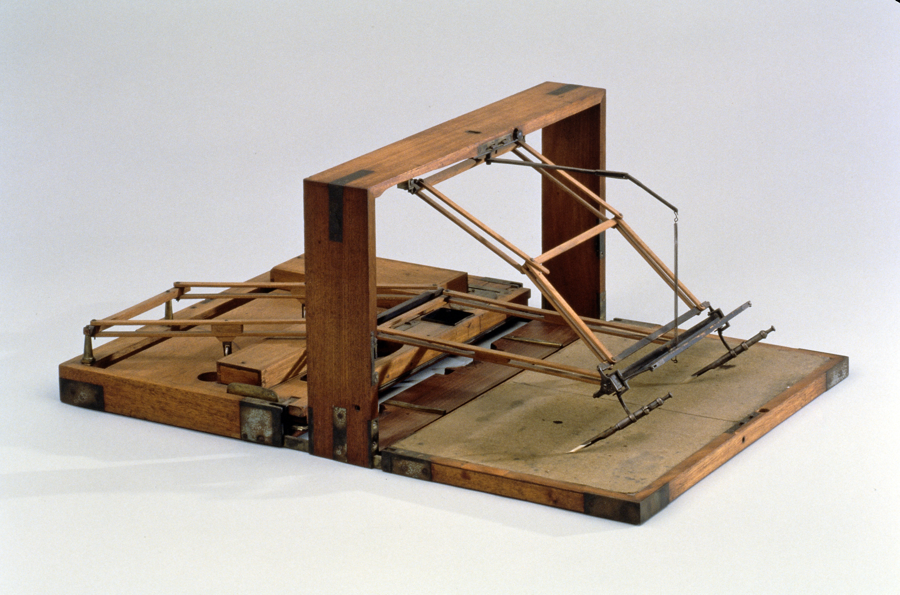 The University of Virginia's polygraph, which is on long-term loan to Thomas Jefferson's Monticello. (MSS ****. Image courtesy of Monticello.)