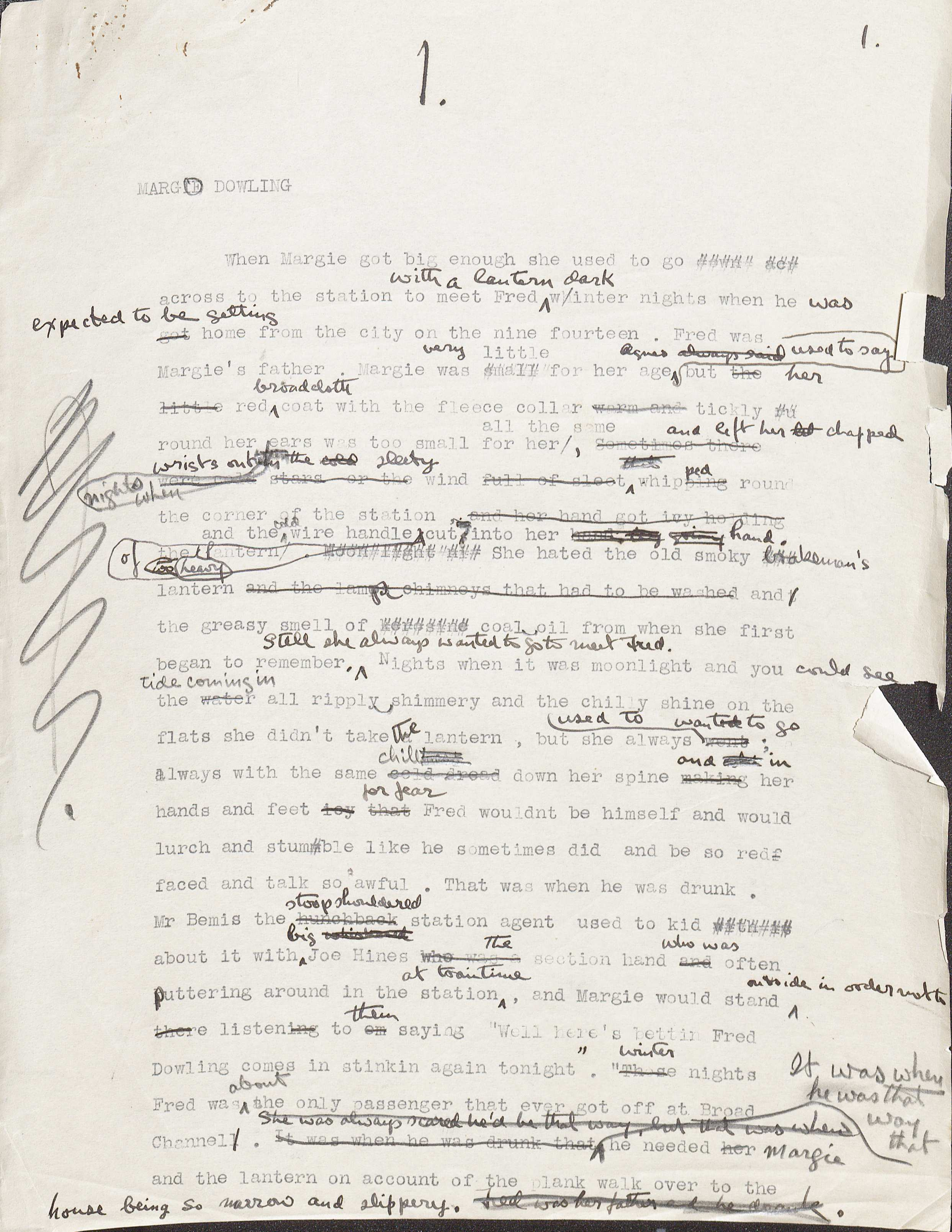 Early manuscript drafts of The Big Money, ca. 1932-1936. (MSS 5950. Permission . Image by Petrina Jackson)