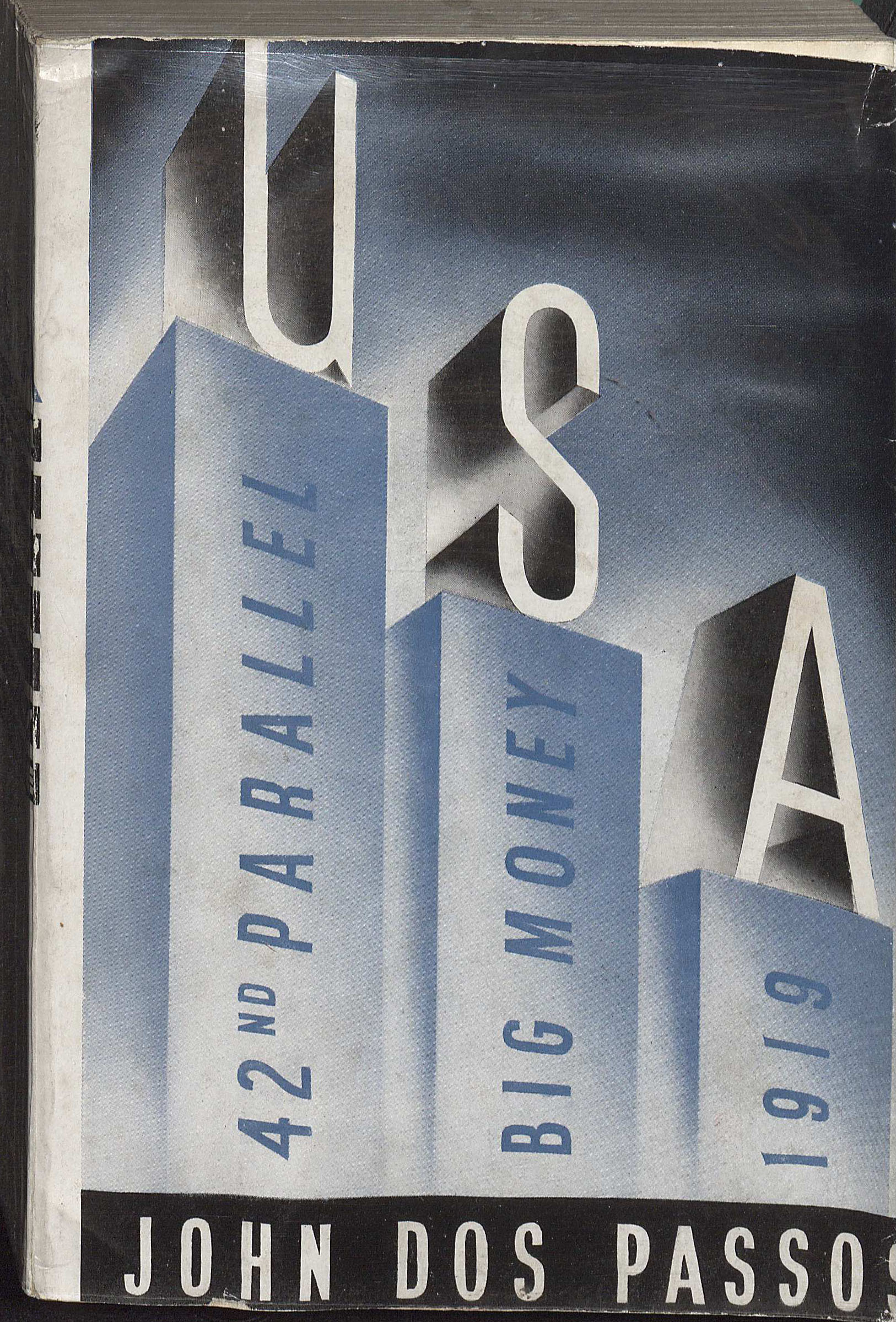 Advance copy of USA by John Dos Passos, 1938. (PS3507.O743 U5 1938. Clifton Waller Barrett Library of American Literature. Image by Petrina Jackson)