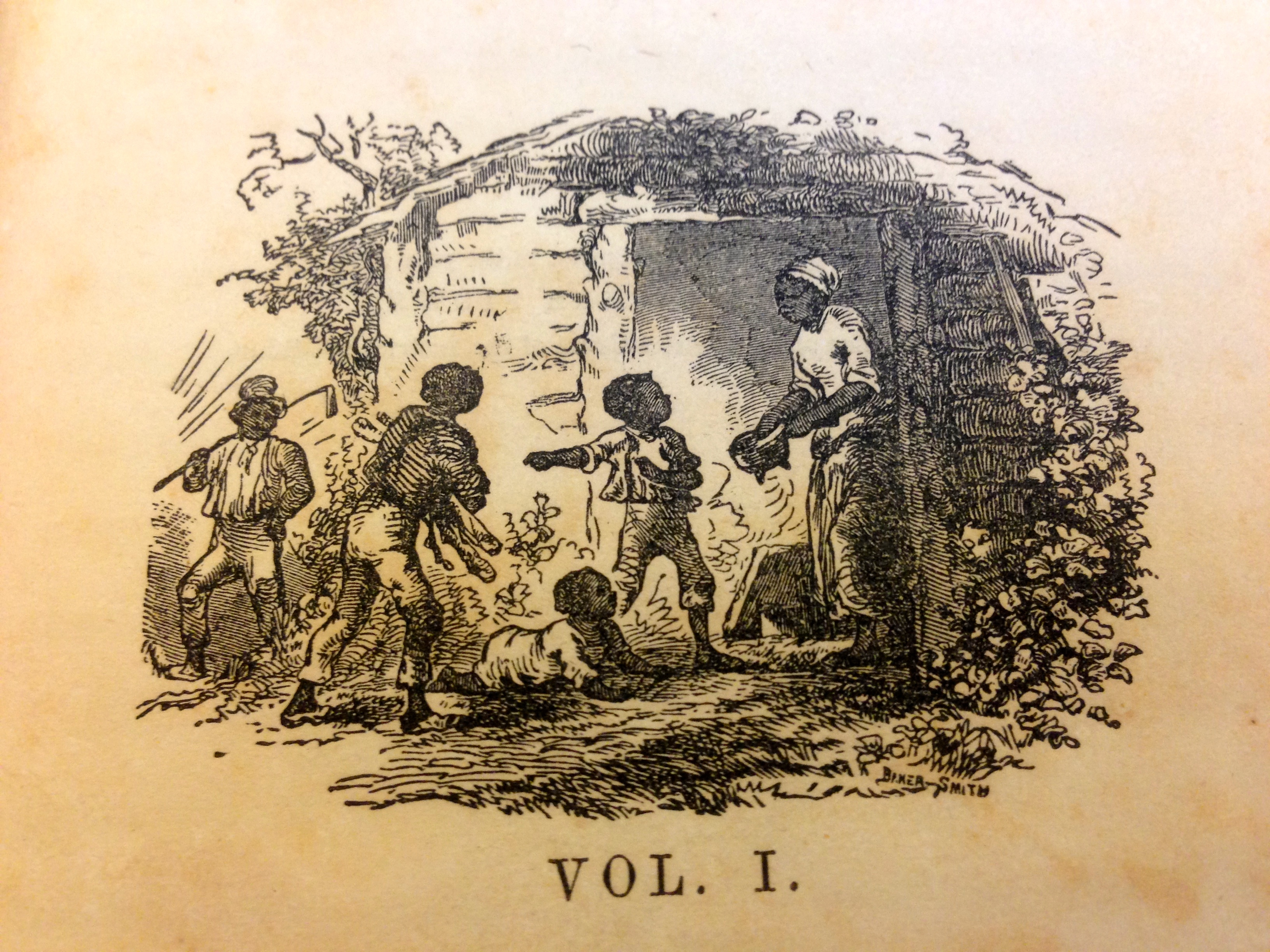 Title page image from volume 1 of Uncle Tom's Cabin.