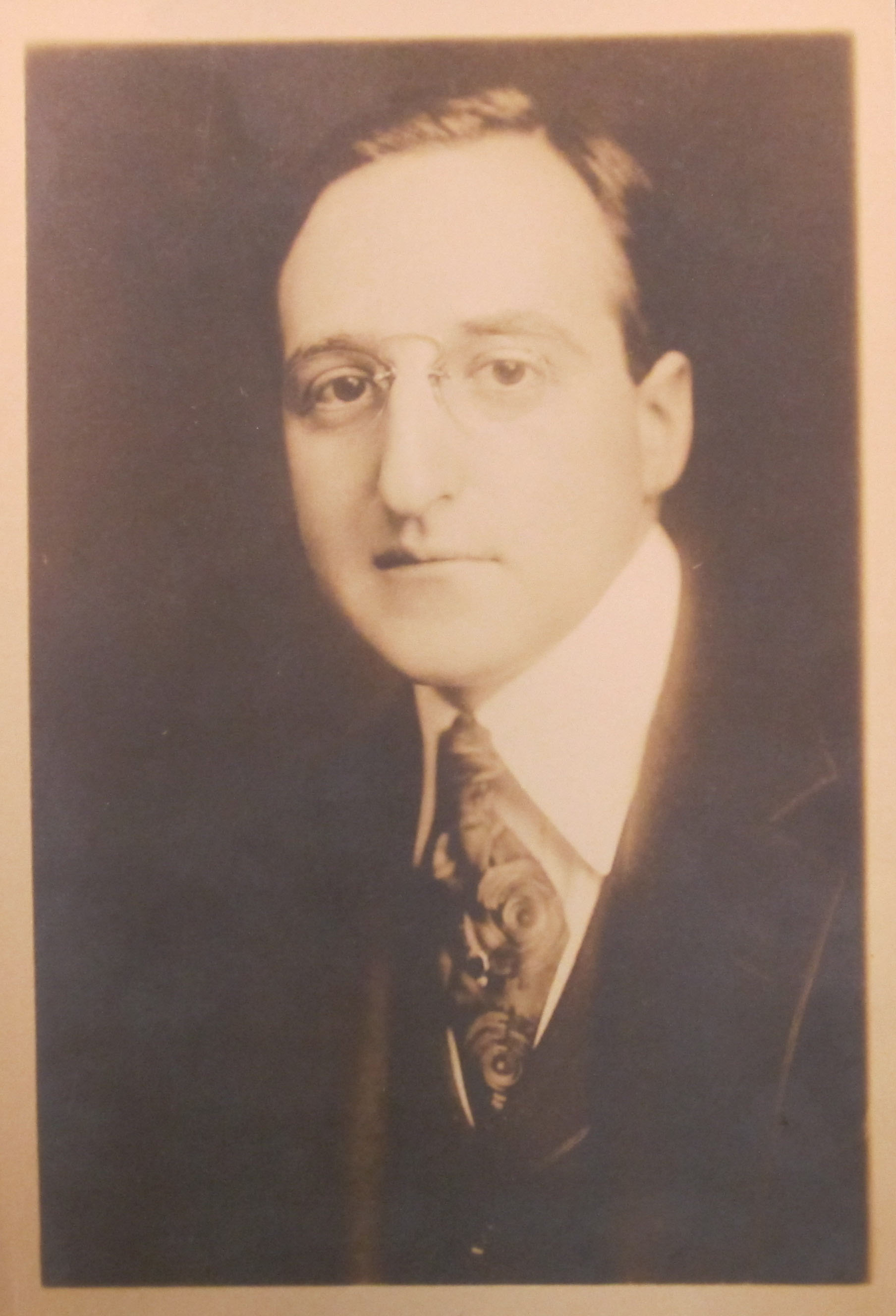 Undated photograph of the Louis Untermeyer. (Barrett Print Files. Clifton Waller Barrett Library of American Literature. Photograph by Petrina Jackson.)
