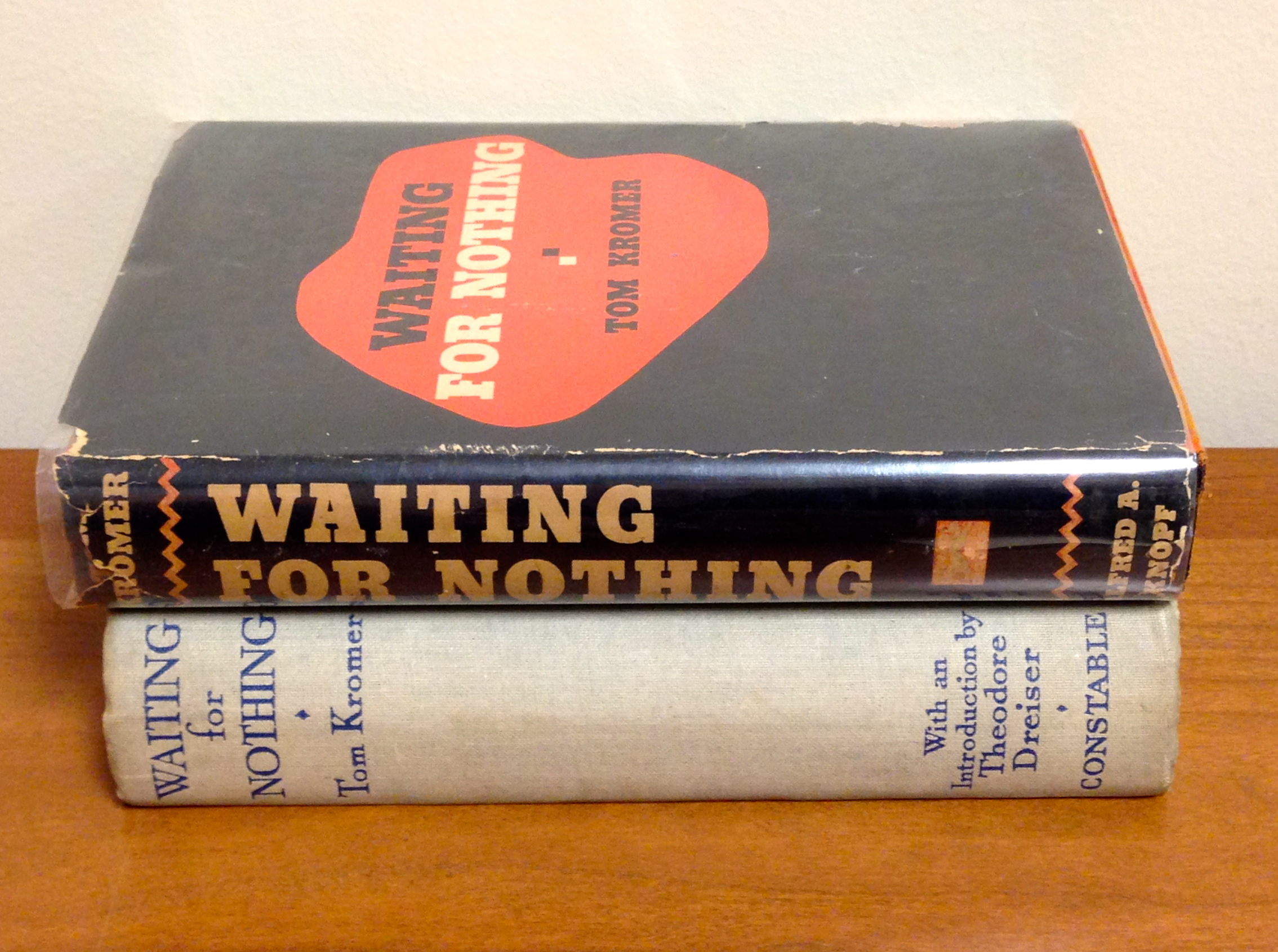 Top is the newly acquired American edition; below is the British edition with Dreiser's introduction.