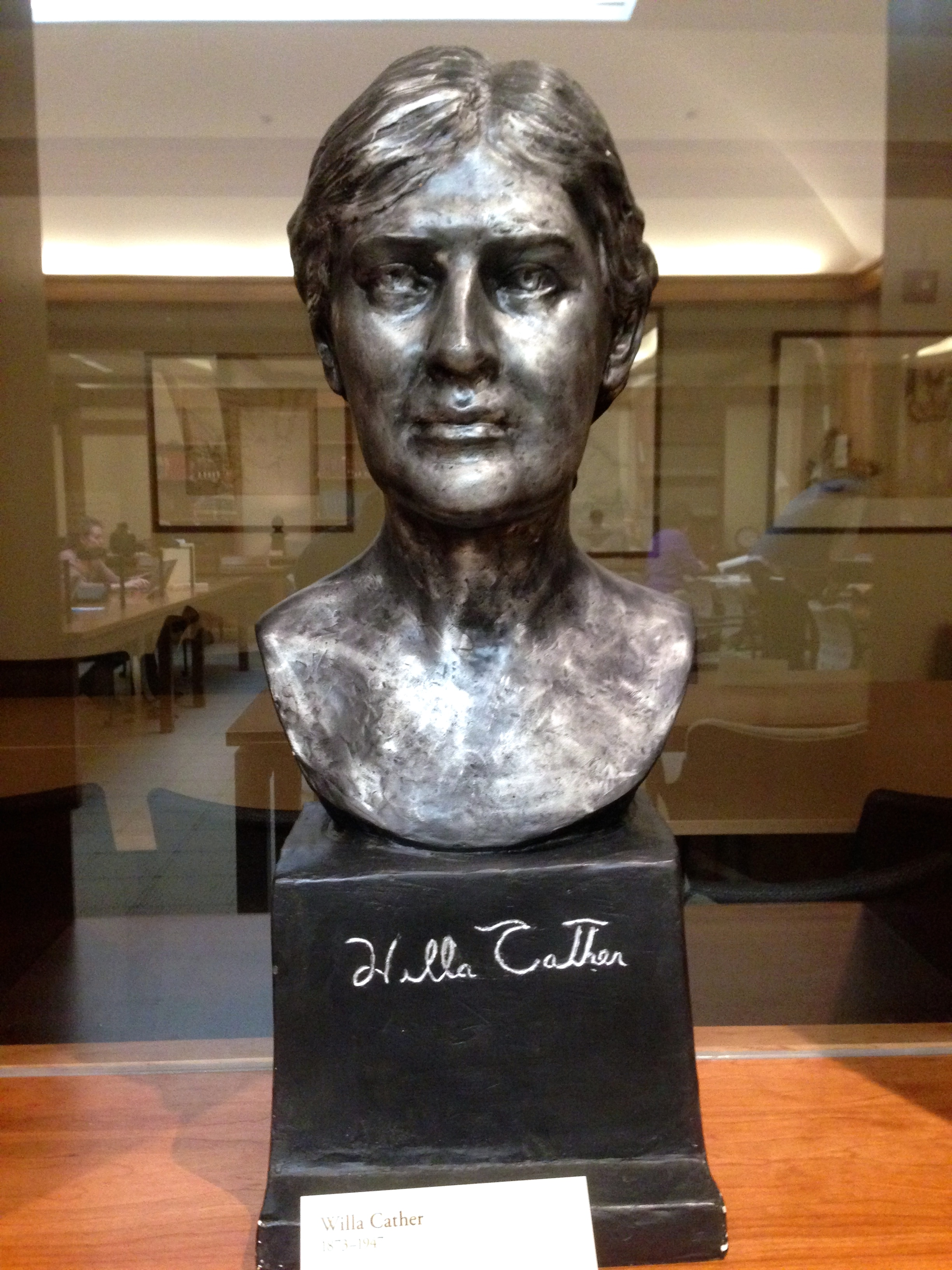 Bust of Willa Cather (Photograph by Emily Caldwell)
