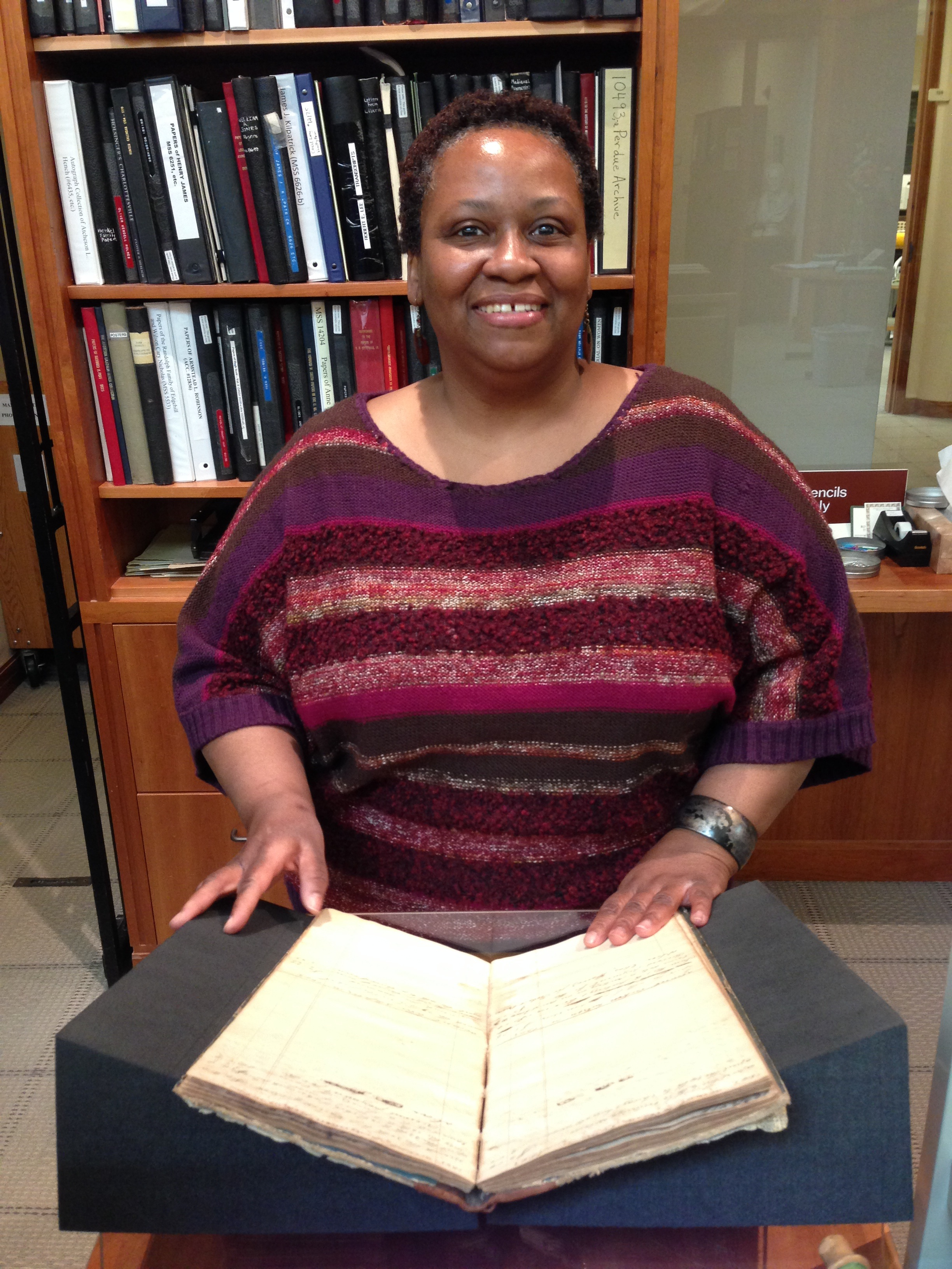Regina Rush, Reference Coordinator, March 26, 2014. (Photograph by Molly Schwartzburg)