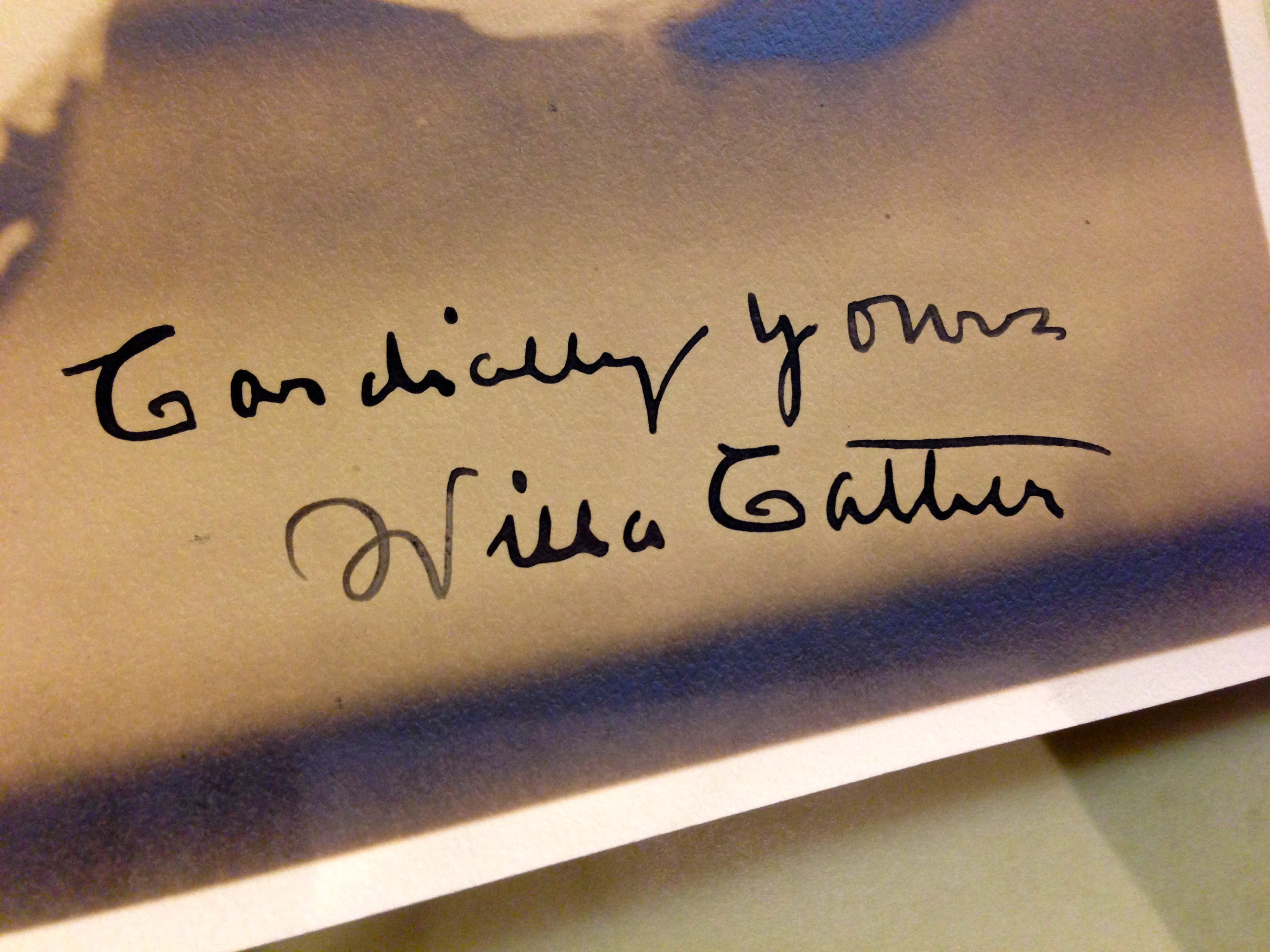 Detail of Willa Cather photograph, n.d. (Emily Caldwell)
