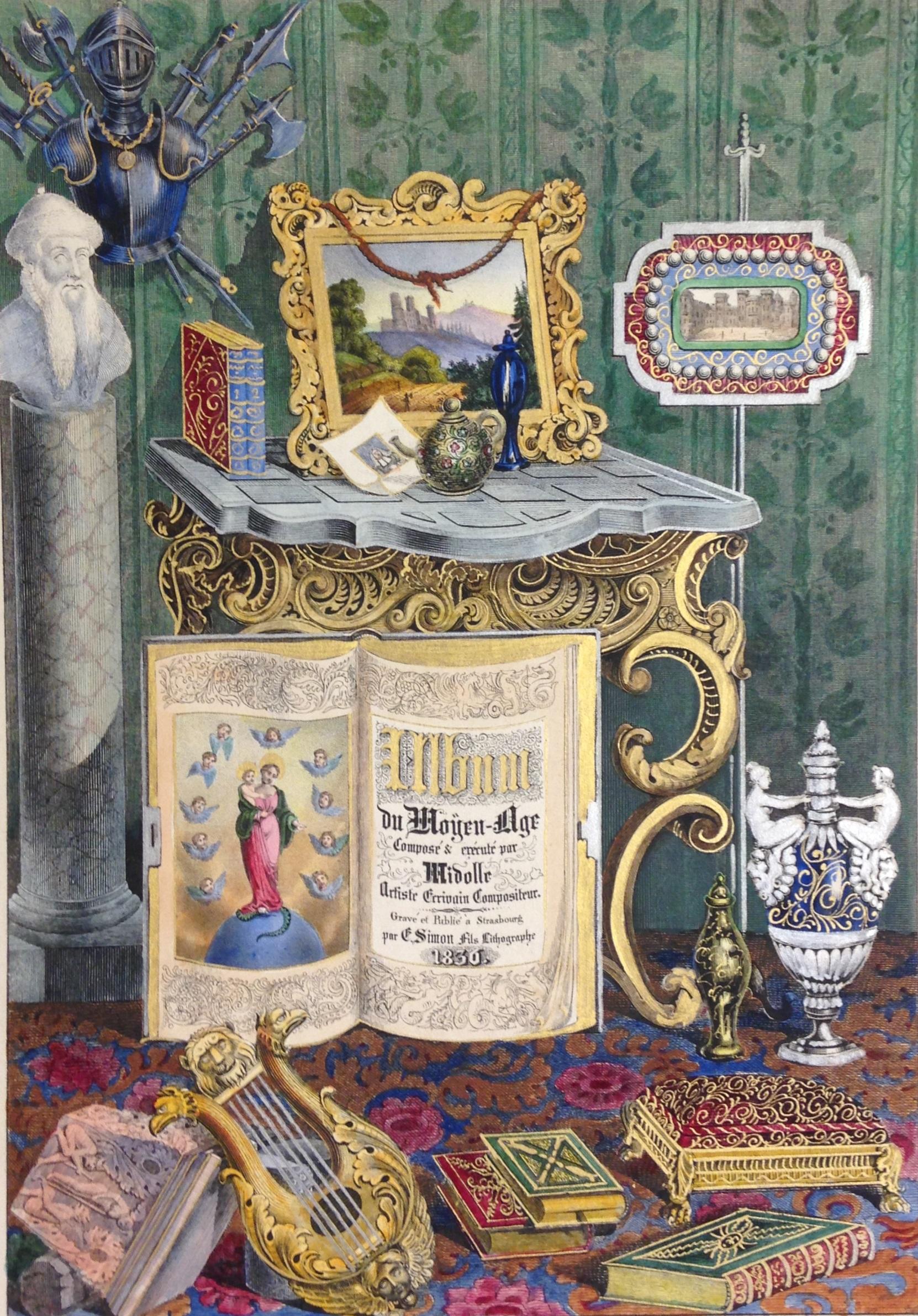 Title page to Jean Midolle, Album du Moyen Âge (Strasbourg, 1836)  ( NK3630 .M53 1836)