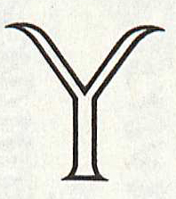 """Y"" is for Columna Versalien, which is included in Treasury of Alphabets and Lettering by Jan Tschichold, 1992. (Z250 .T883 1992. Image by Petrina Jackson)"