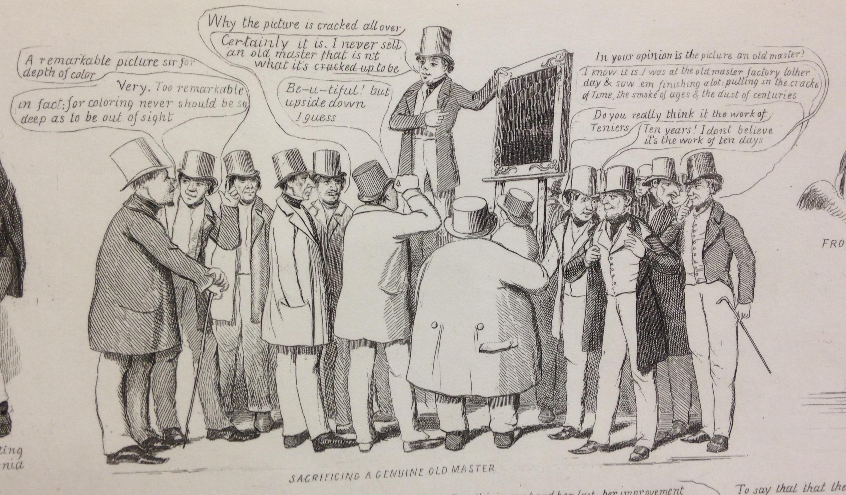 """One of the cartoon """"scraps"""" in David Claypoole Johnston, Scraps no. 1, new series (Boston, 1849)   (E166 .J65 1849)"""