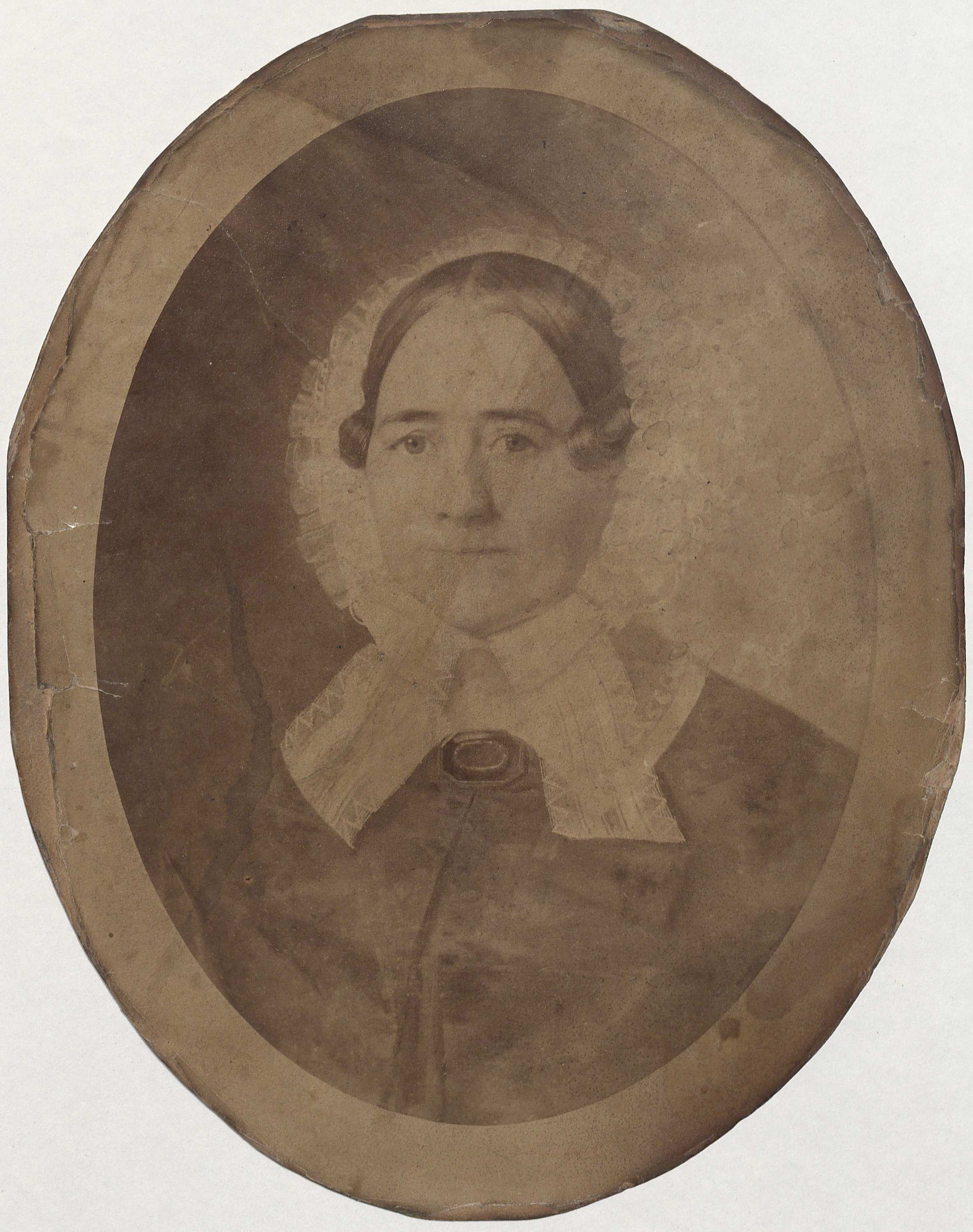 Portrait of Jane Hollins Nicholas Randolph, n.d. (MSS 5533-c. Additional Papers of the Randolph Family of Edgehill on deposit from Steven M. Moyer. Image by Petrina Jackson)