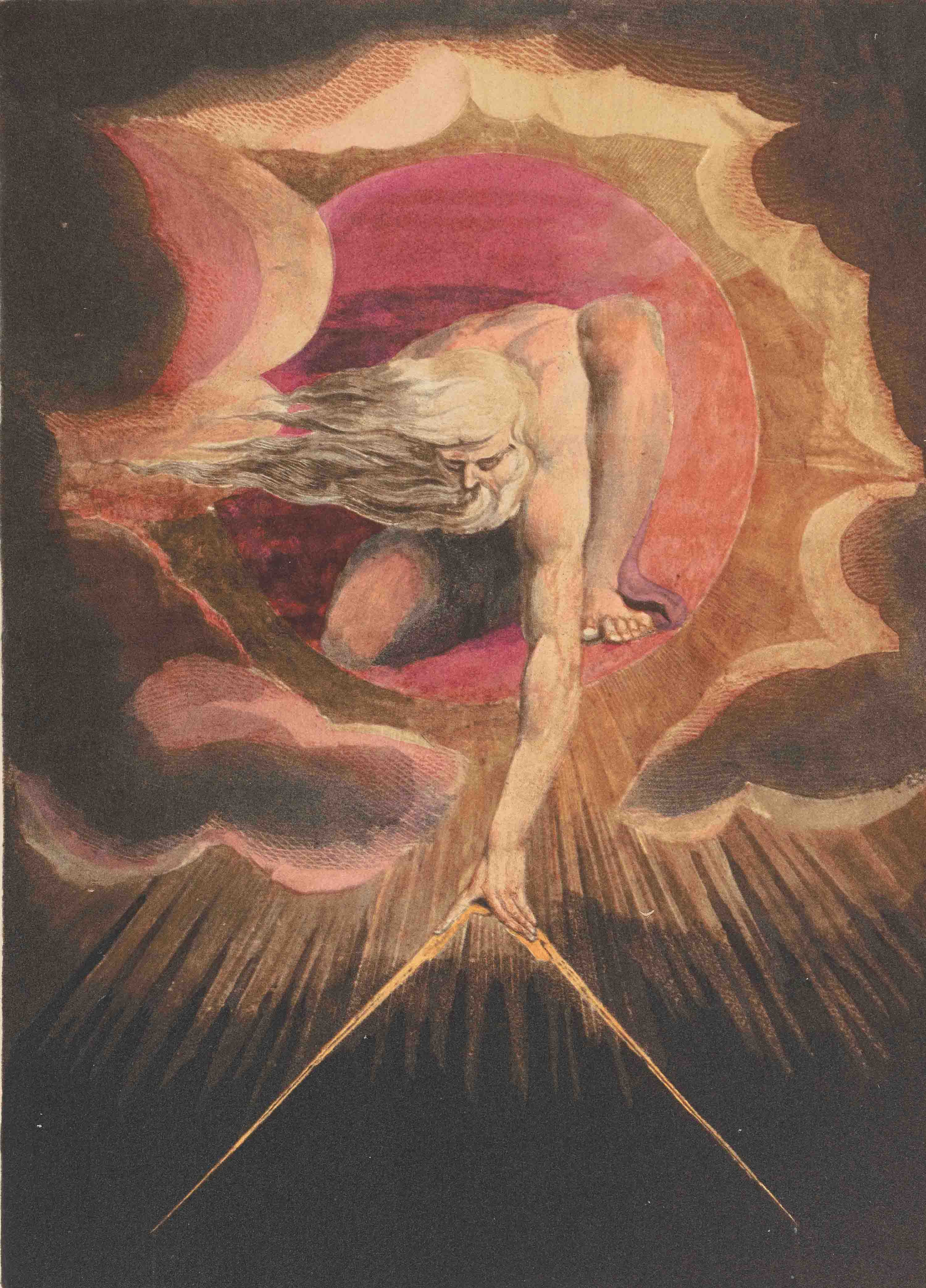 Frontispiece to William Blake's illuminated book, Europe: A Prophecy (1794), reproduced from the 1969 facsimile edition printed by the Trianon Press for the William Blake Trust.
