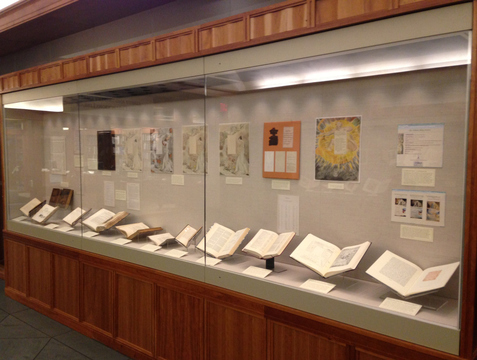 "Part II of the exhibition: ""Envisioning William Blake."""