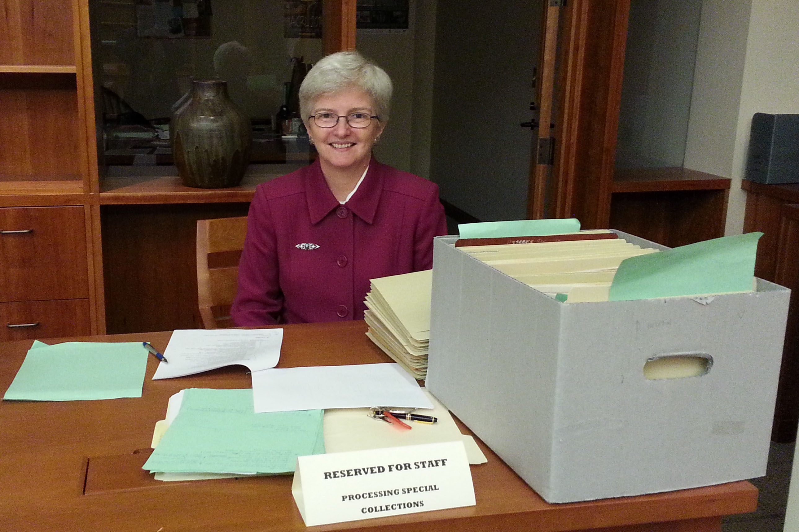 Karen Parshall, Honorary Archival Processor Extraordinaire.