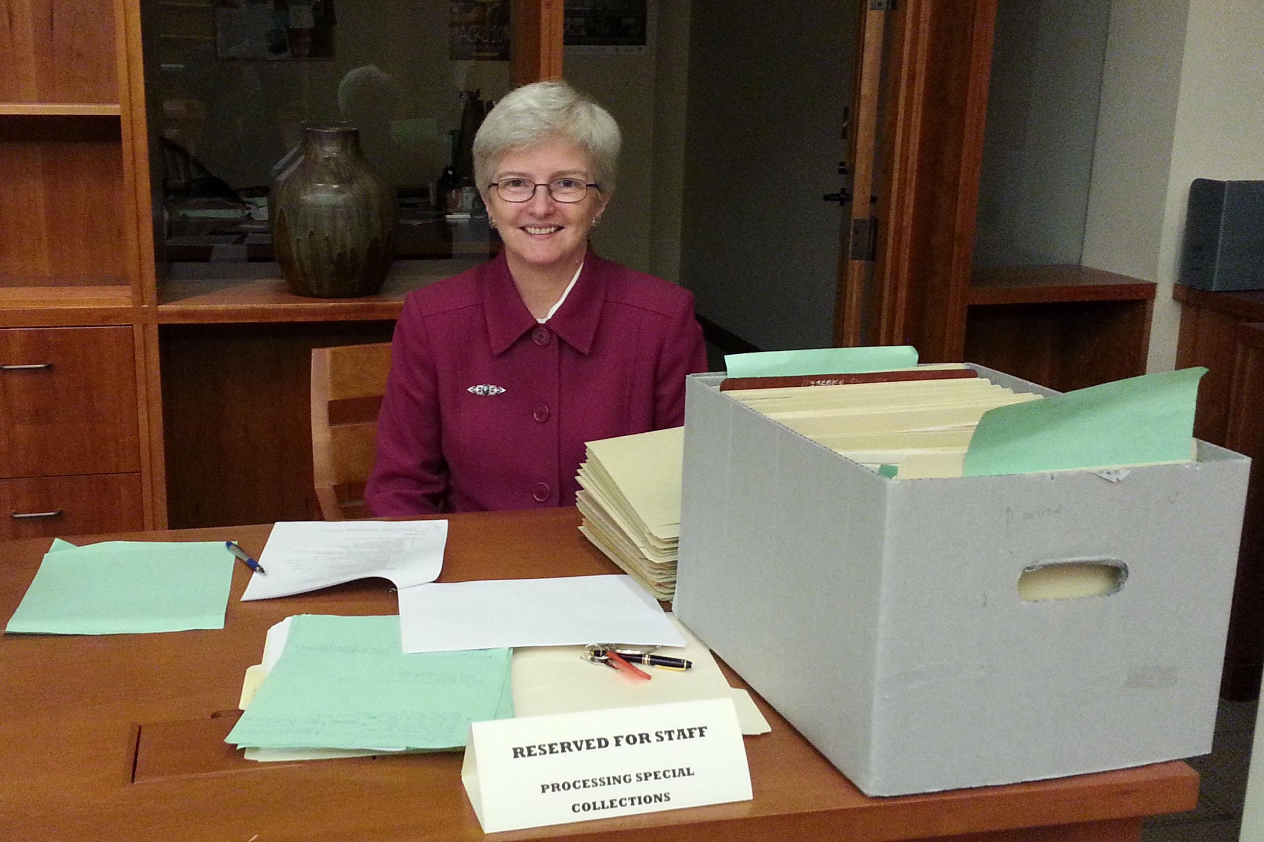 Karen Parshall, Honorary Archival Processor Extraordinaire.