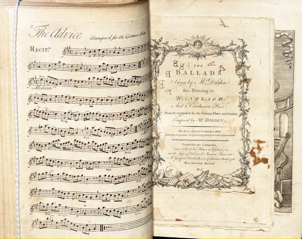 This scrapbook of 18th century songs, ballads, and cantatas were collected by Thomas Jefferson and his family. There are 95 titles in this volume from Jefferson's distinct music collection.