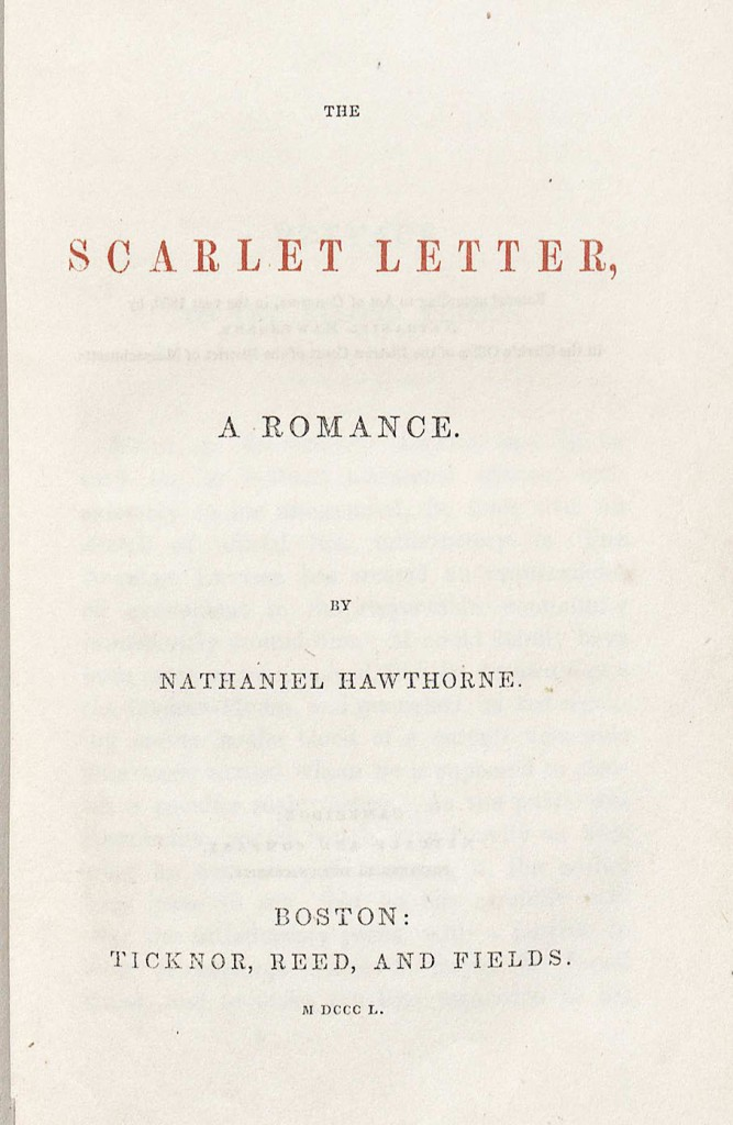 Title page of The Scarlet Letter