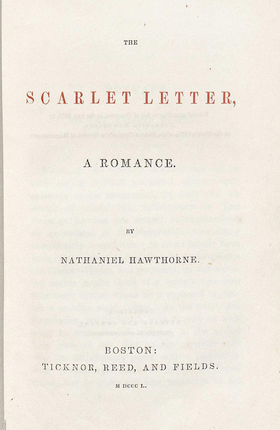 Nathaniel hawthorne writing style scarlet letter