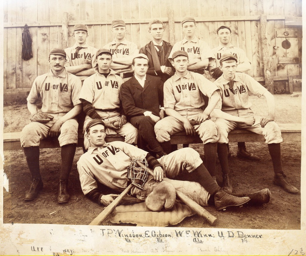 Photograph of University of Virginia Baseball Team