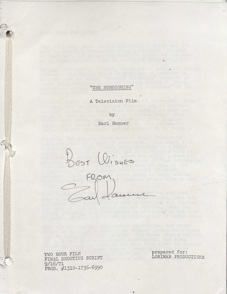 Final Shooting Script of The Homecoming