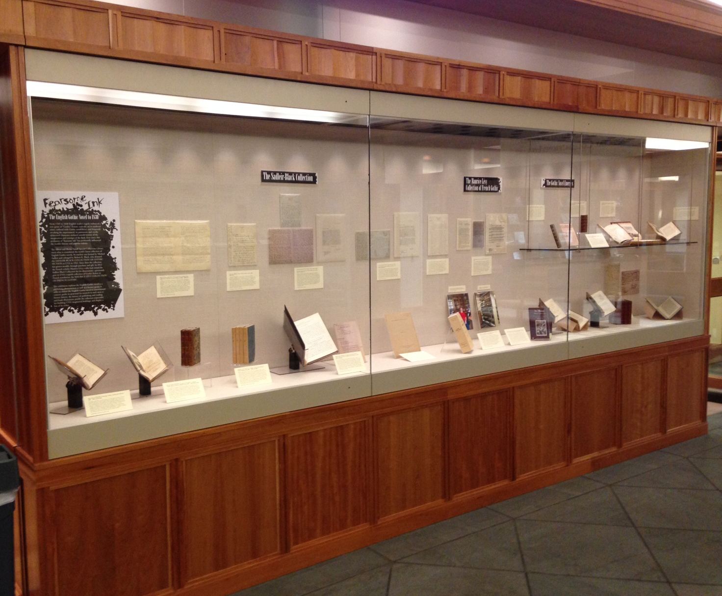"Part of the exhibition, ""Fearsome Ink: The English Gothic Novel to 1830,"" on view through Mat 28."