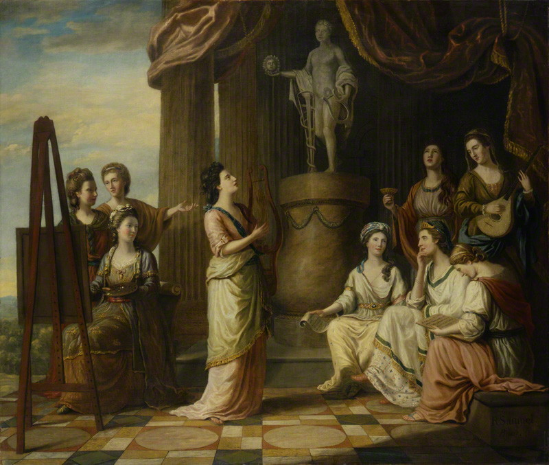 The Nine Living Muses of Great Britain by Richard Samuel, oil on canvas, 1778