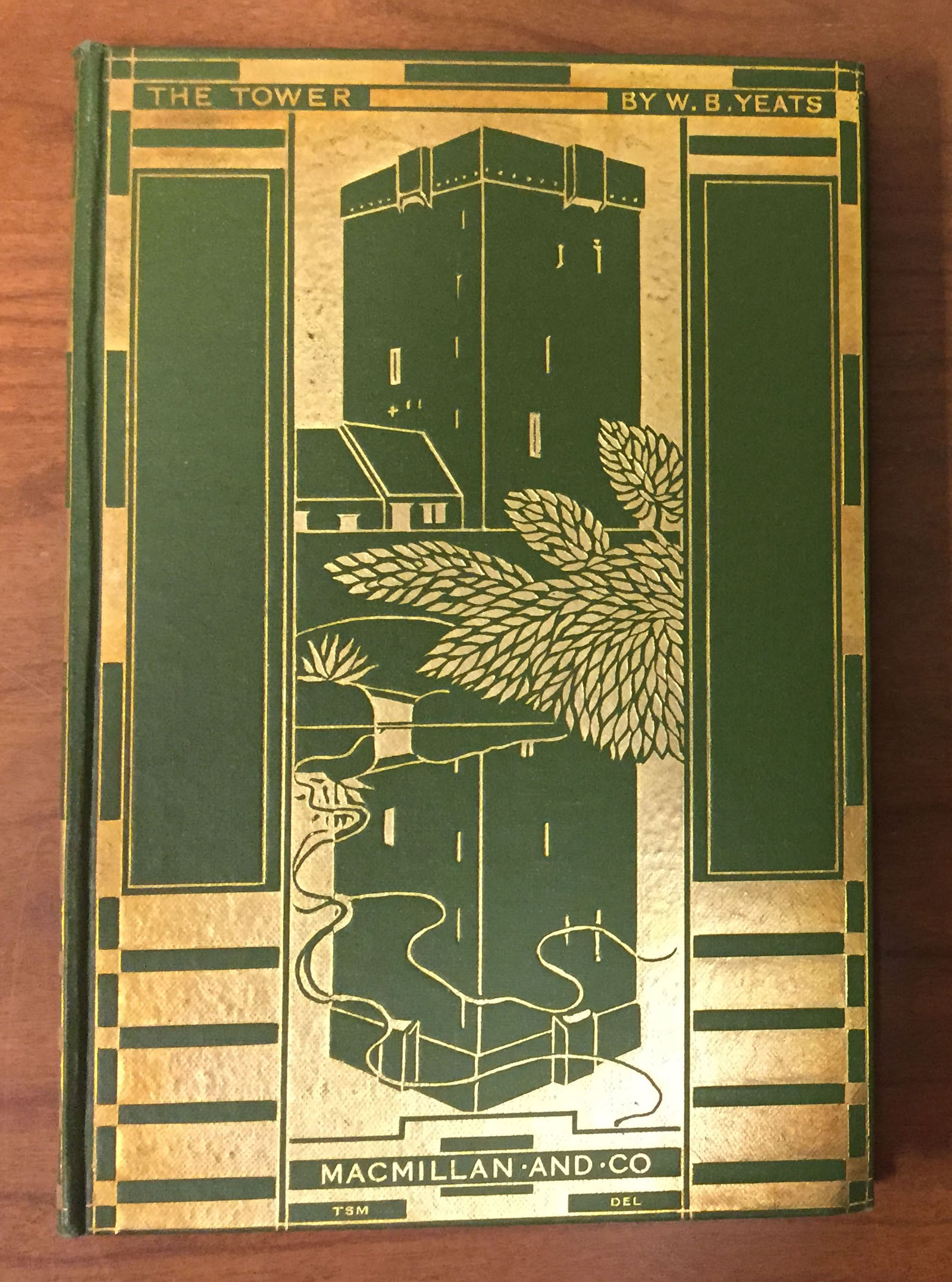 Front cover of William Butler Yeats, The Tower (London: Macmillan, 1928) (PR5904 .T6 1928)