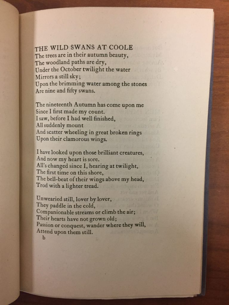 wild swans at coole essay Essay writing guide ruth haines commentary on 'the wild swans at coole' by wb yeats 'the wild swans at coole' is a poignant and contemplative poem written by.