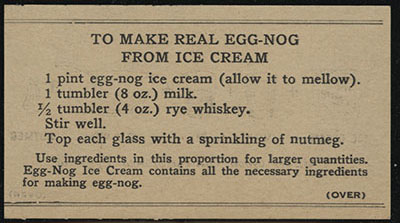 Recipe for Real Egg-Nog from Ice Cream