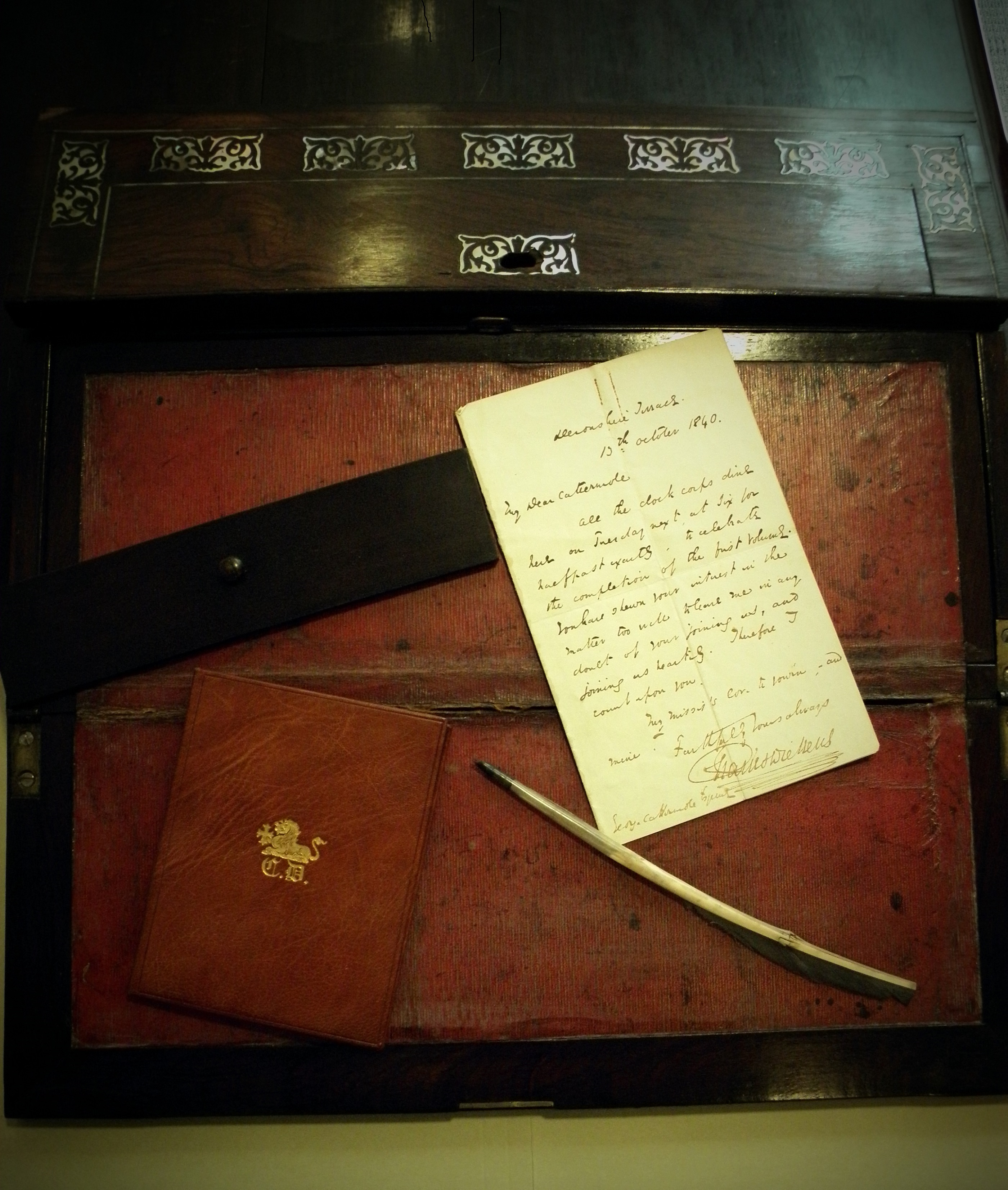 Charles Dickens' portable writing desk