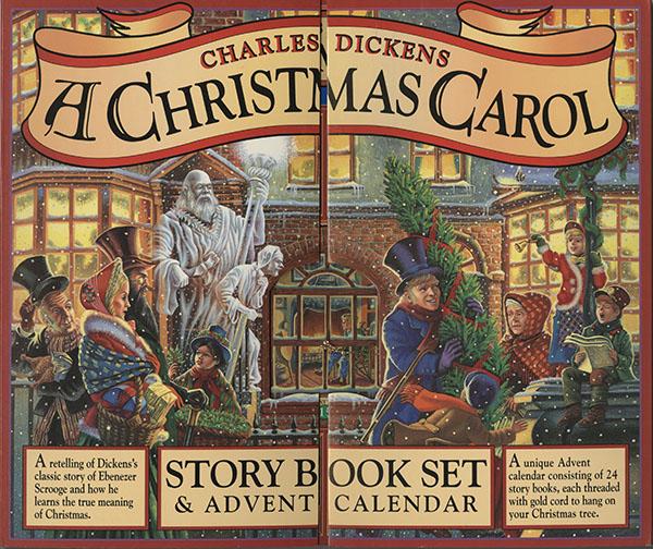 A Christmas Carol, an advent calendar of miniature books (cover)